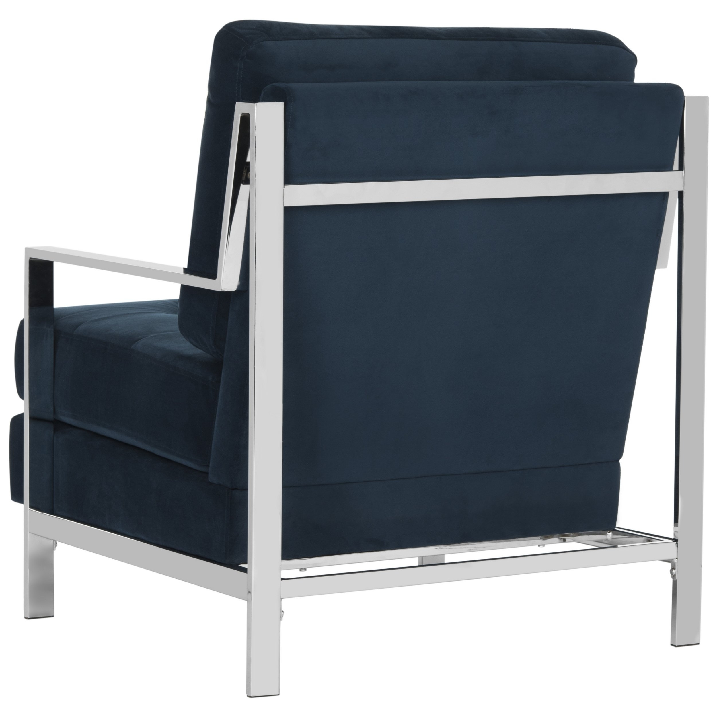 Walden Upholstered Arm Chairs For Popular Shop Mid Century Modern Glam Velvet Navy Blue Club Chair – Free (#16 of 20)