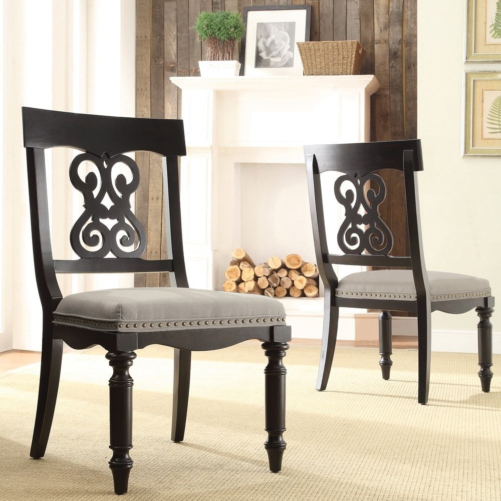 Well Known Belmeade Scroll Upholstered Side Chairriverside – Lewis Pertaining To Belmeade Side Chairs (#19 of 20)