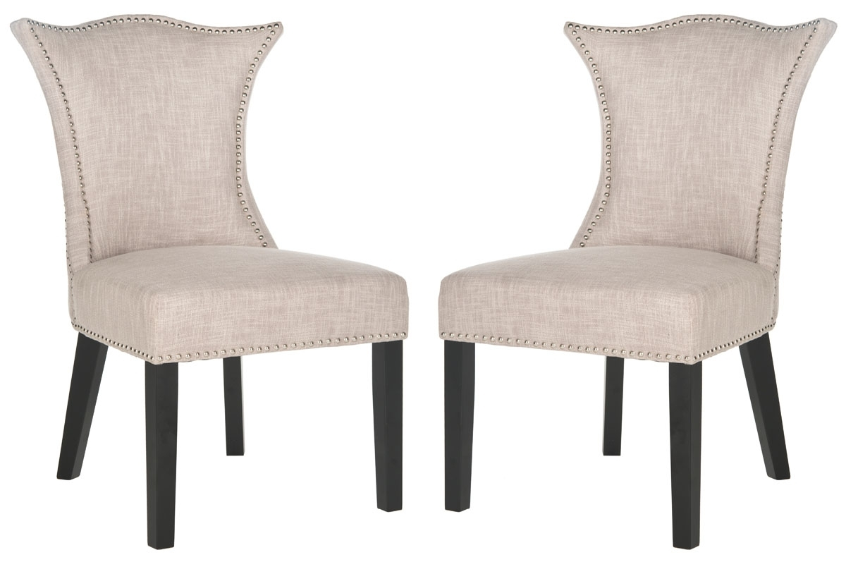 Inspiration about Well Known Caira Black Upholstered Diamond Back Side Chairs Inside Mcr4717A Set2 Dining Chairs – Furnituresafavieh (#5 of 20)