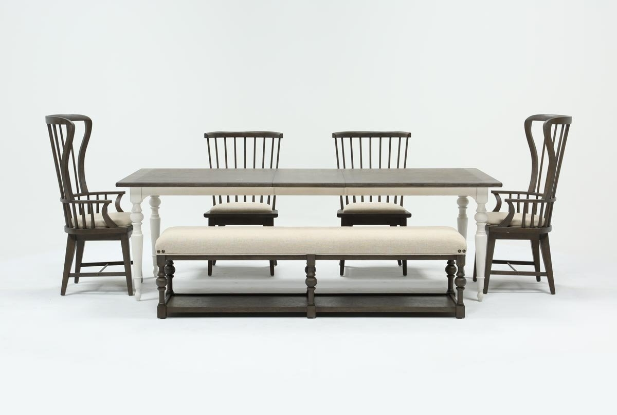 Well Known Candice Ii Slat Back Host Chairs Regarding Candice Ii 6 Piece Extension Rectangle Dining Set (#19 of 20)