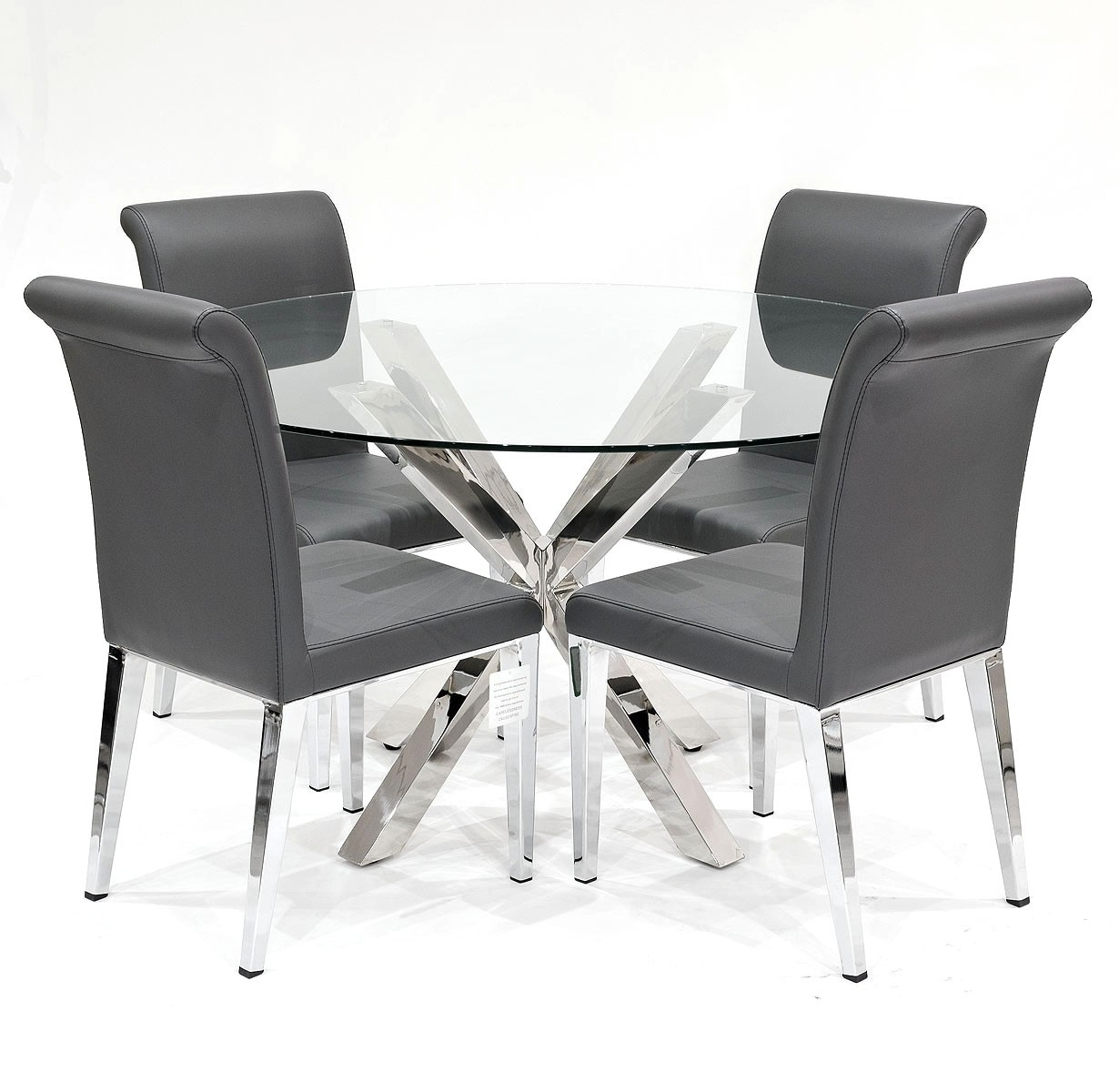Well Known Crossly Dining Table And Grey Kirkland Dining Chair Set – Be Fabulous! Throughout Grey Dining Chairs (#17 of 20)