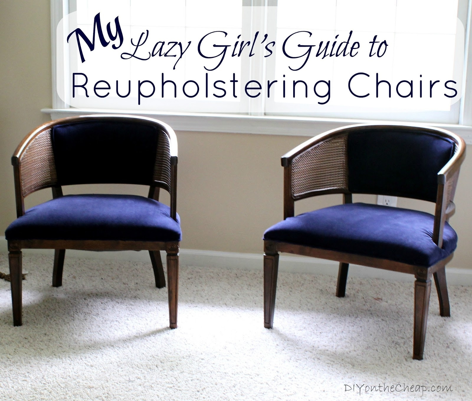 Inspiration about Well Known Dining Chairs With Blue Loose Seat For My Lazy Girl's Guide To Reupholstering Chairs {a Tutorial} – Erin Spain (#18 of 20)