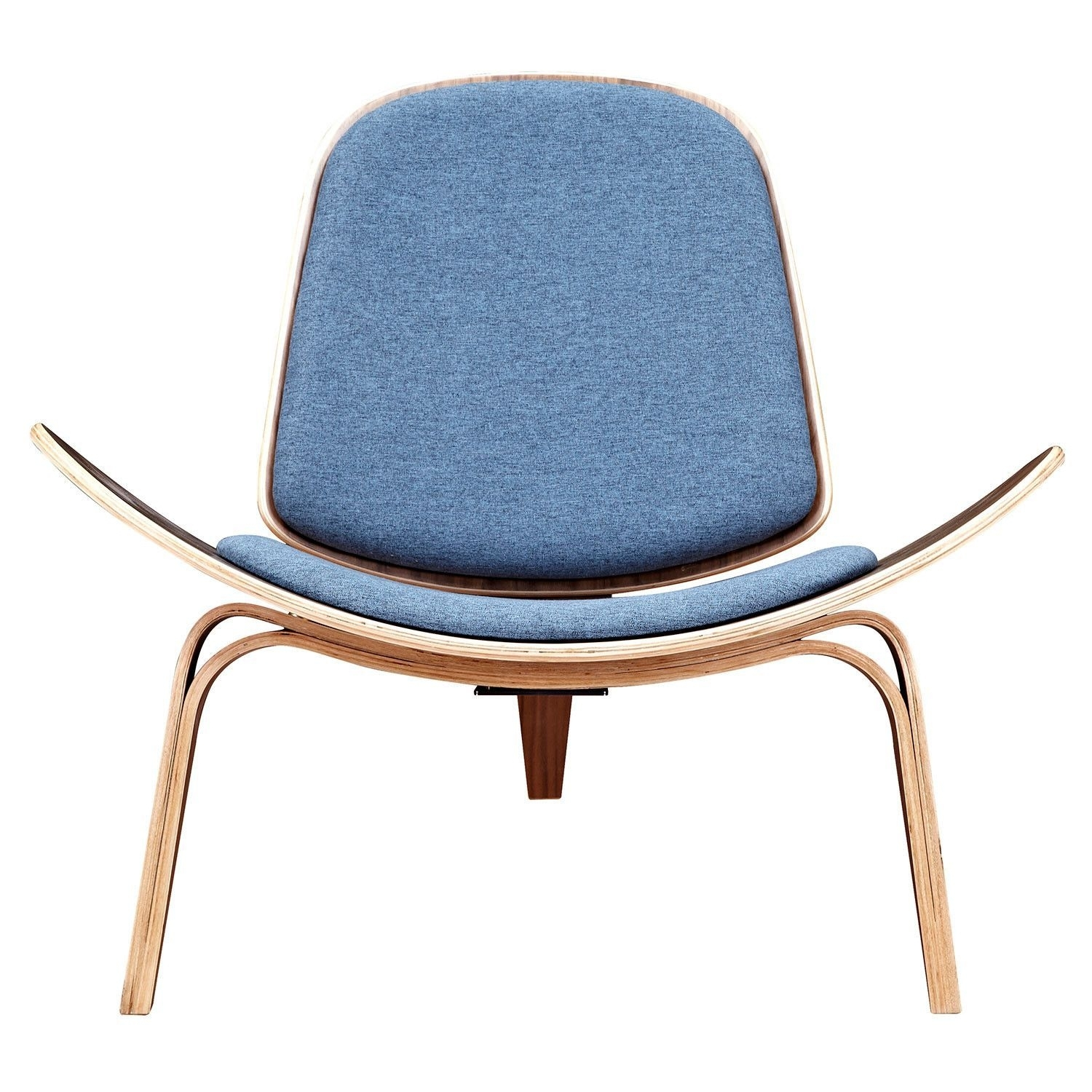 Inspiration about Well Known Dodger Side Chairs With Shell Chair Dodger Blue – Walnut (#4 of 20)