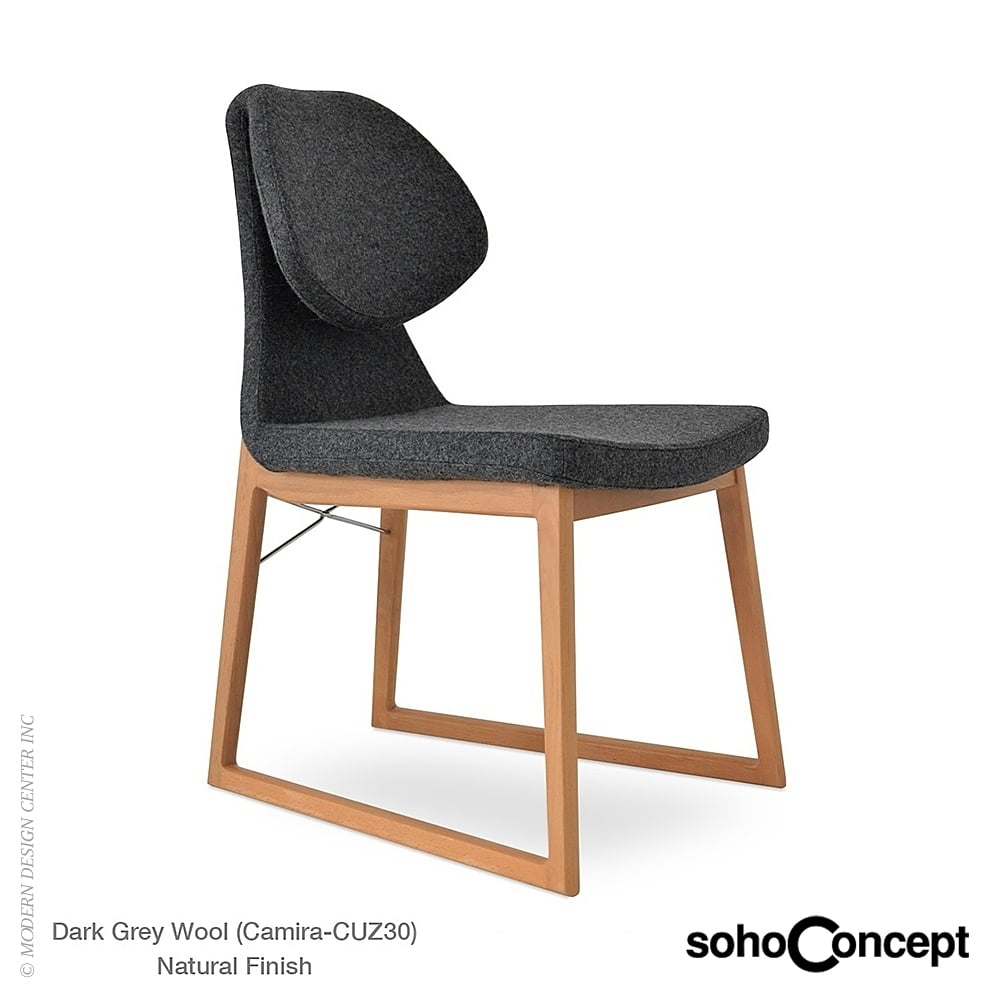 Well Known Kent Dining Chairs With Gakko Wood Dining Chair Kent Genuine Leathersoho Danish Modern (View 19 of 20)