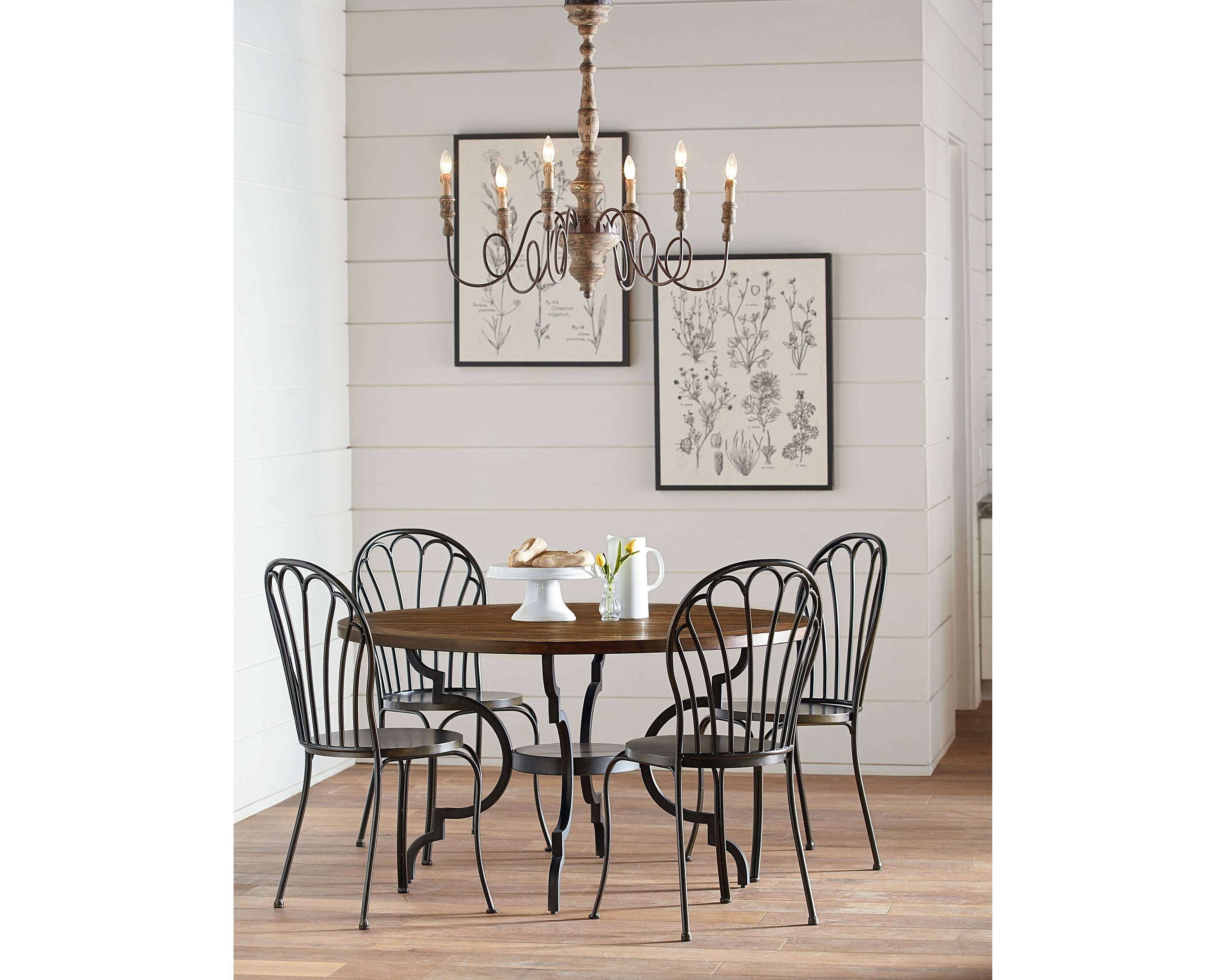 Inspiration about Well Known Magnolia Home Peacock Blackened Bronze Metal Side Chairs Throughout Breakfast + Peacock – Magnolia Home (#2 of 20)