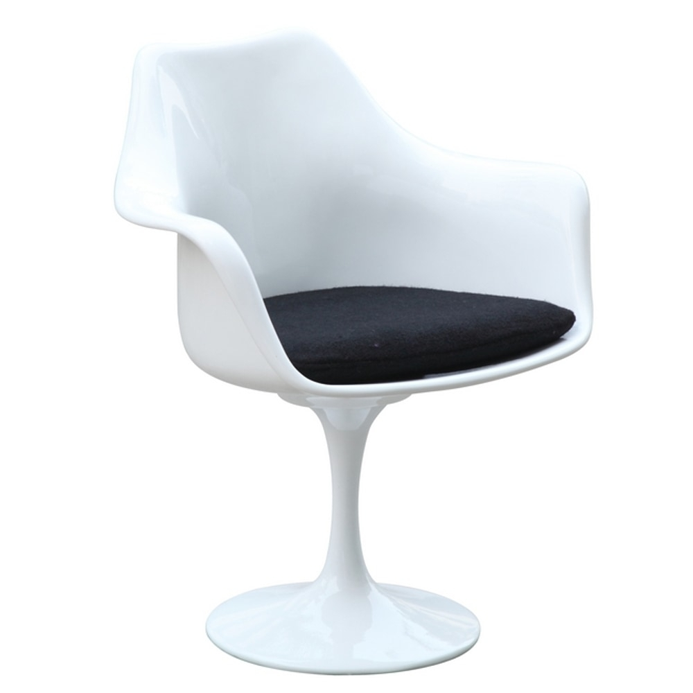 Well Known Mod Ii Arm Chairs With Fine Mod Imports Flower Arm Chair, White Dining Chair / White (View 18 of 20)