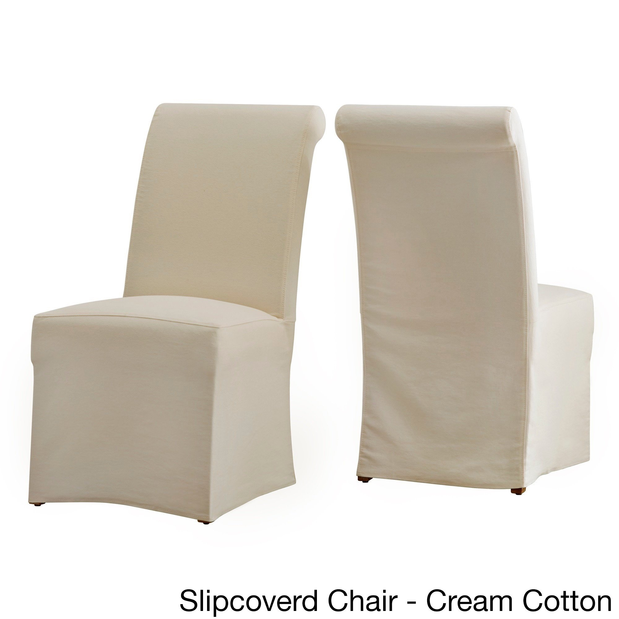 Inspiration about Well Known Shop Potomac Slipcovered Rolled Back Parsons Chairs (Set Of 2) Pertaining To Garten Linen Skirted Side Chairs Set Of 2 (#9 of 20)
