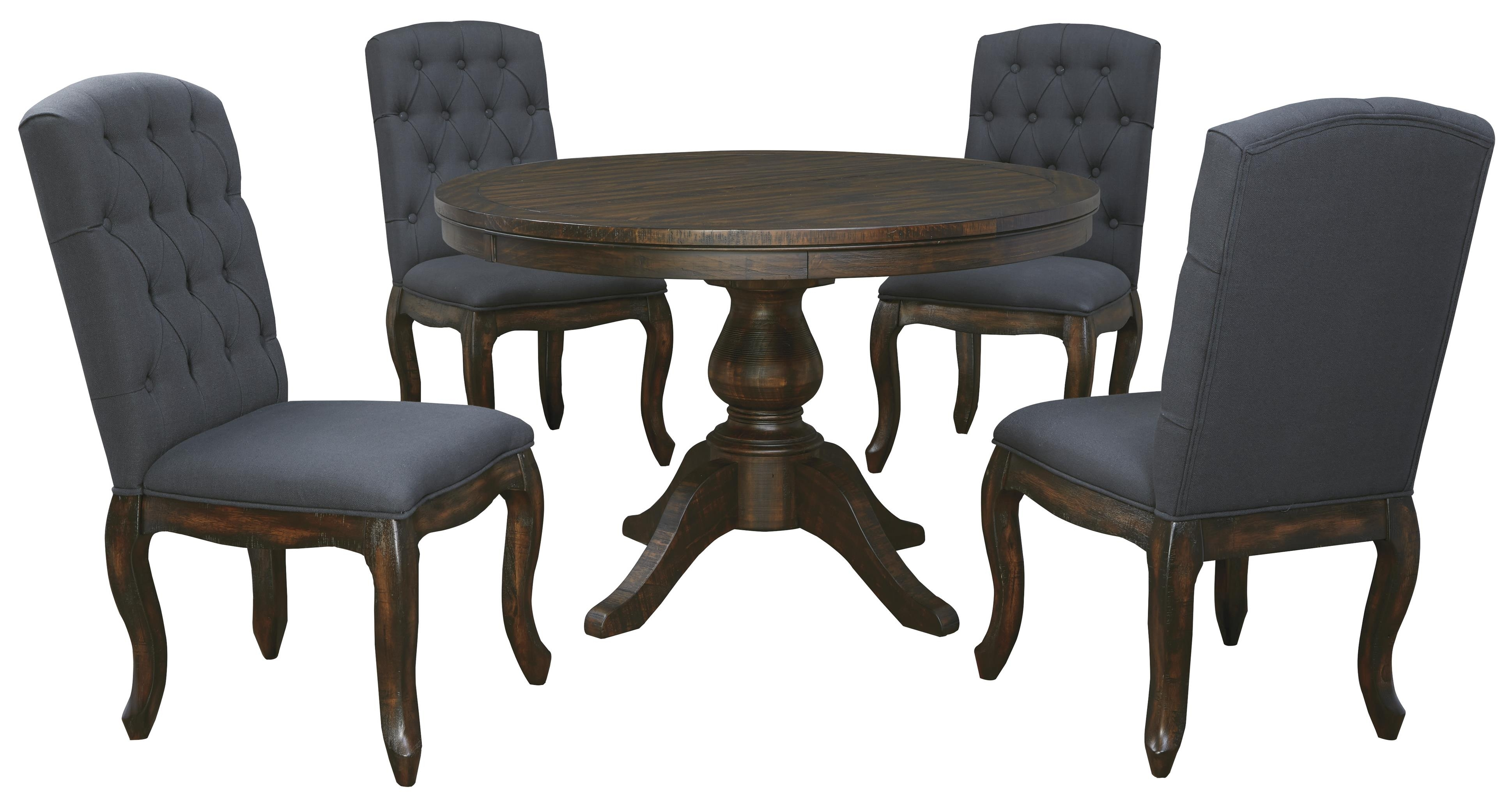 Well Liked 5 Piece Round Dining Table Set – Castrophotos Intended For Macie Side Chairs (#18 of 20)