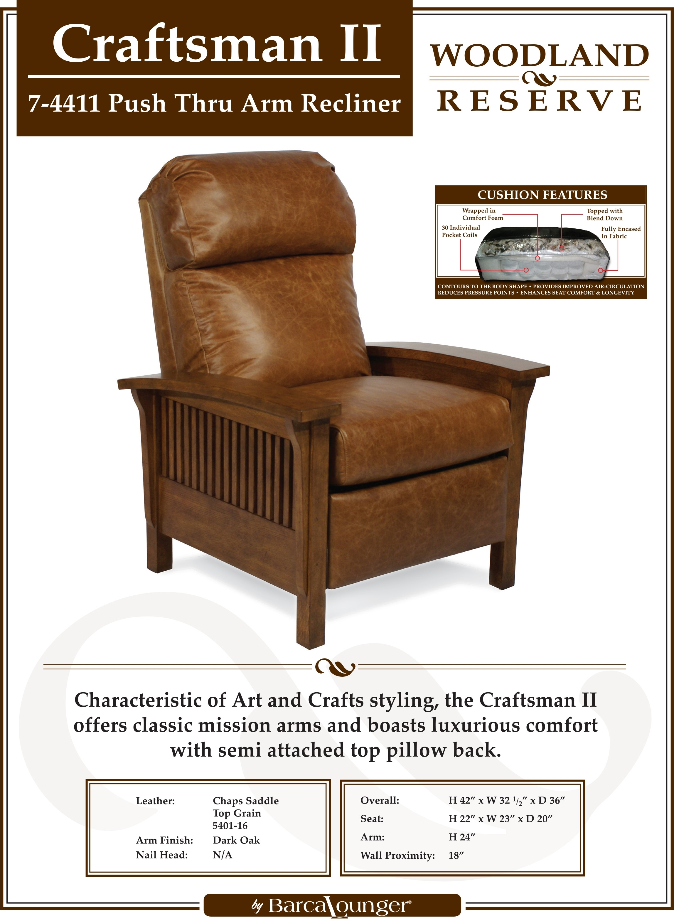 Well Liked Barcalounger Craftsman Ii Recliner Chair – Leather Recliner Chair Regarding Craftsman Arm Chairs (#19 of 20)