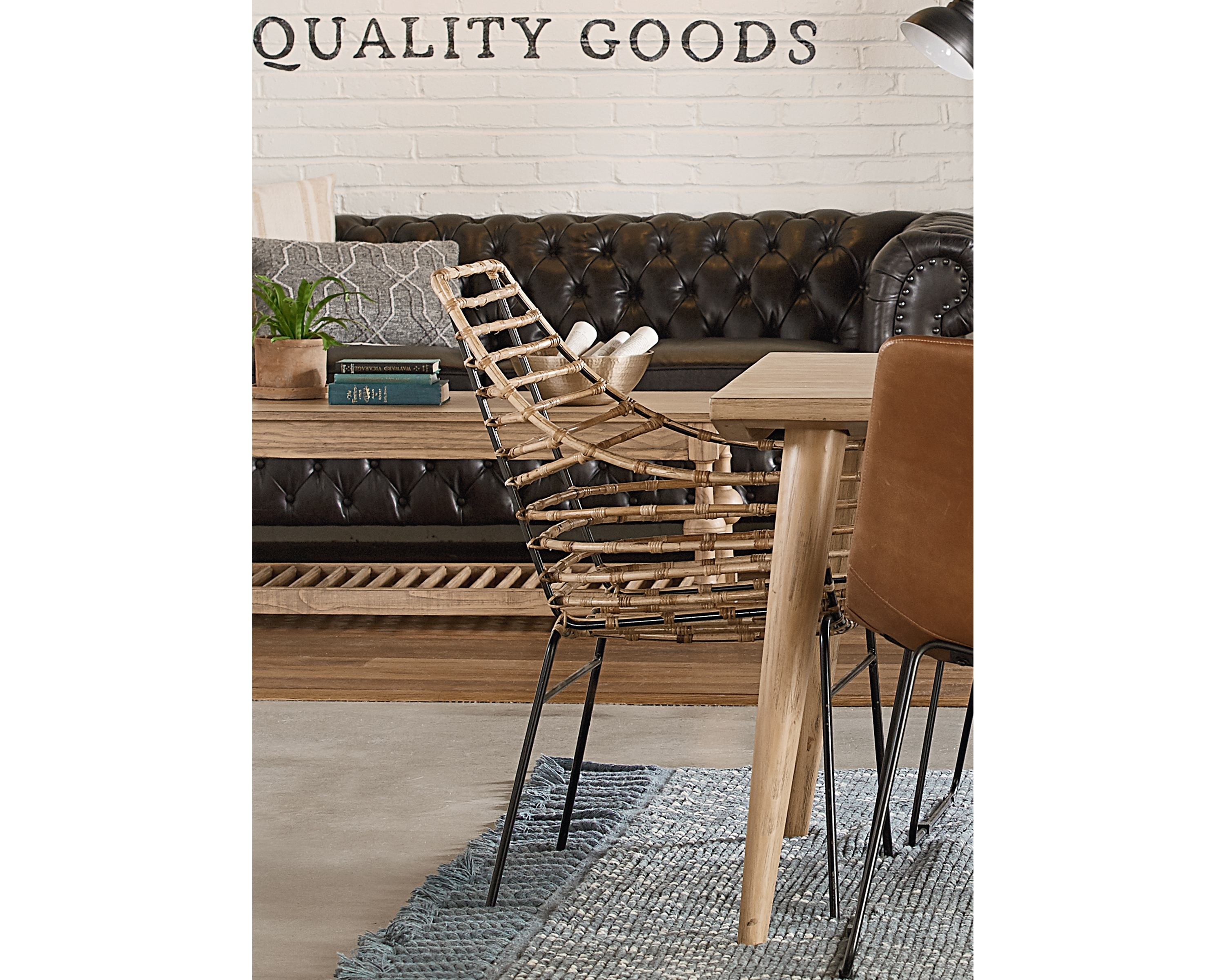 Popular Photo of Magnolia Home Entwine Rattan Arm Chairs