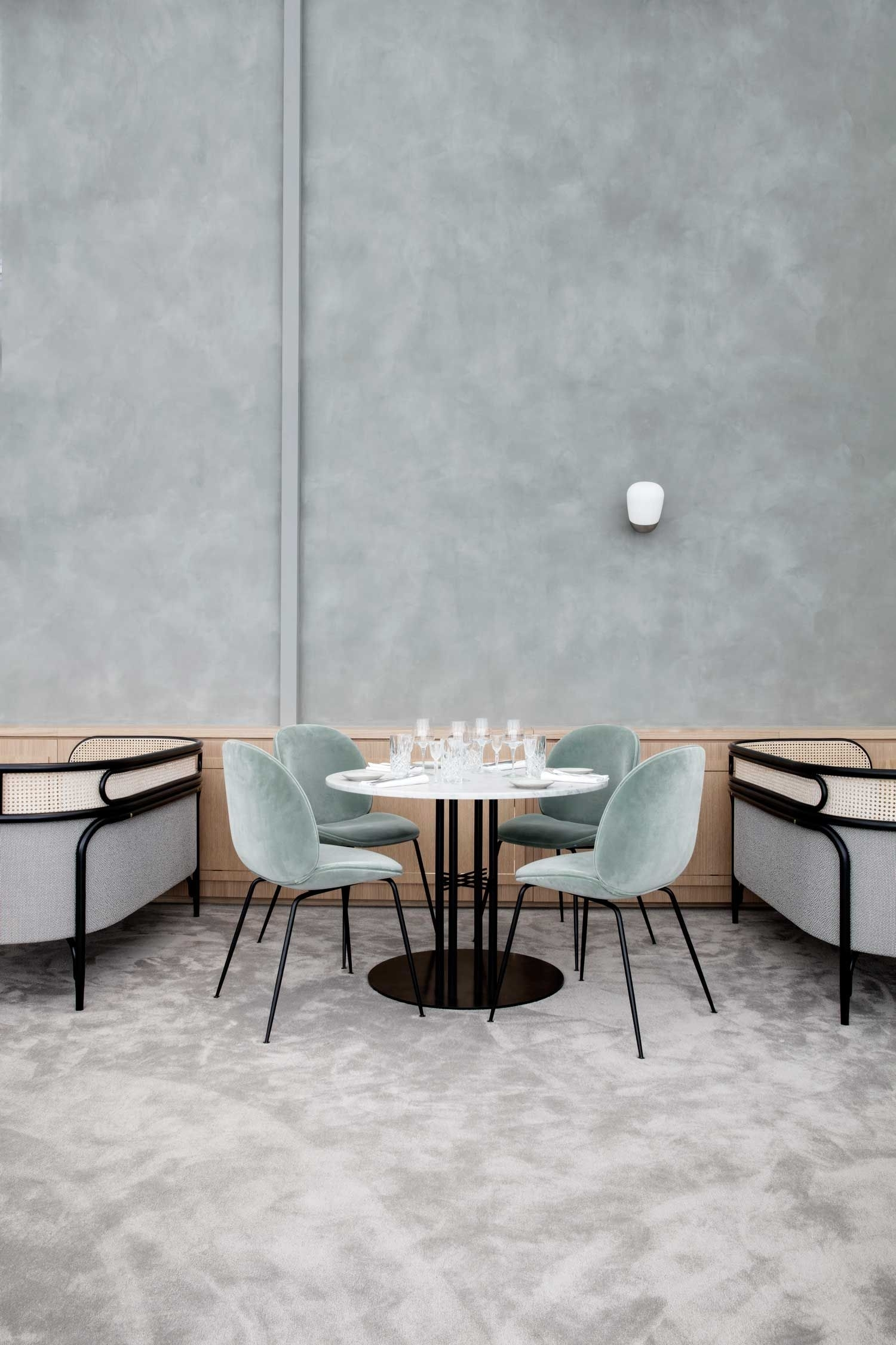 Well Liked Osteria Emerald Side Chairs Intended For Maison Du Danemark (House Of Denmark) In Parisgamfratesi (#19 of 20)