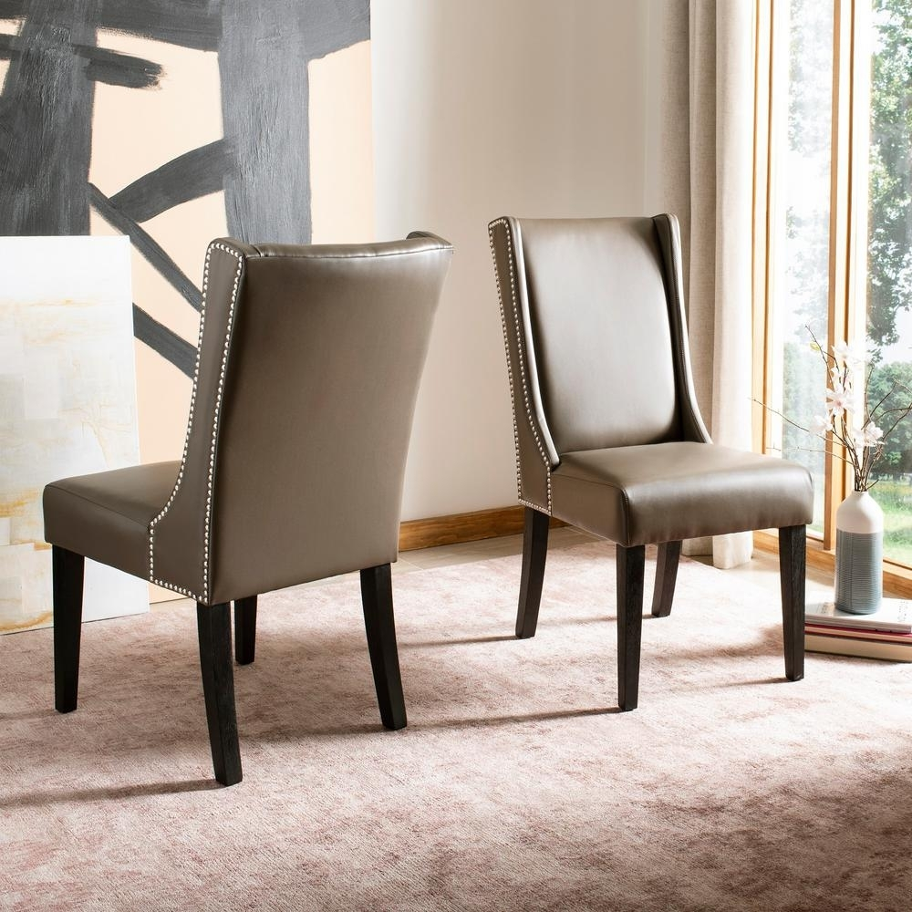 Inspiration about Well Liked Safavieh Sher Clay/espresso Bicast Leather Side Chair (Set Of 2 Regarding Clay Side Chairs (#12 of 20)