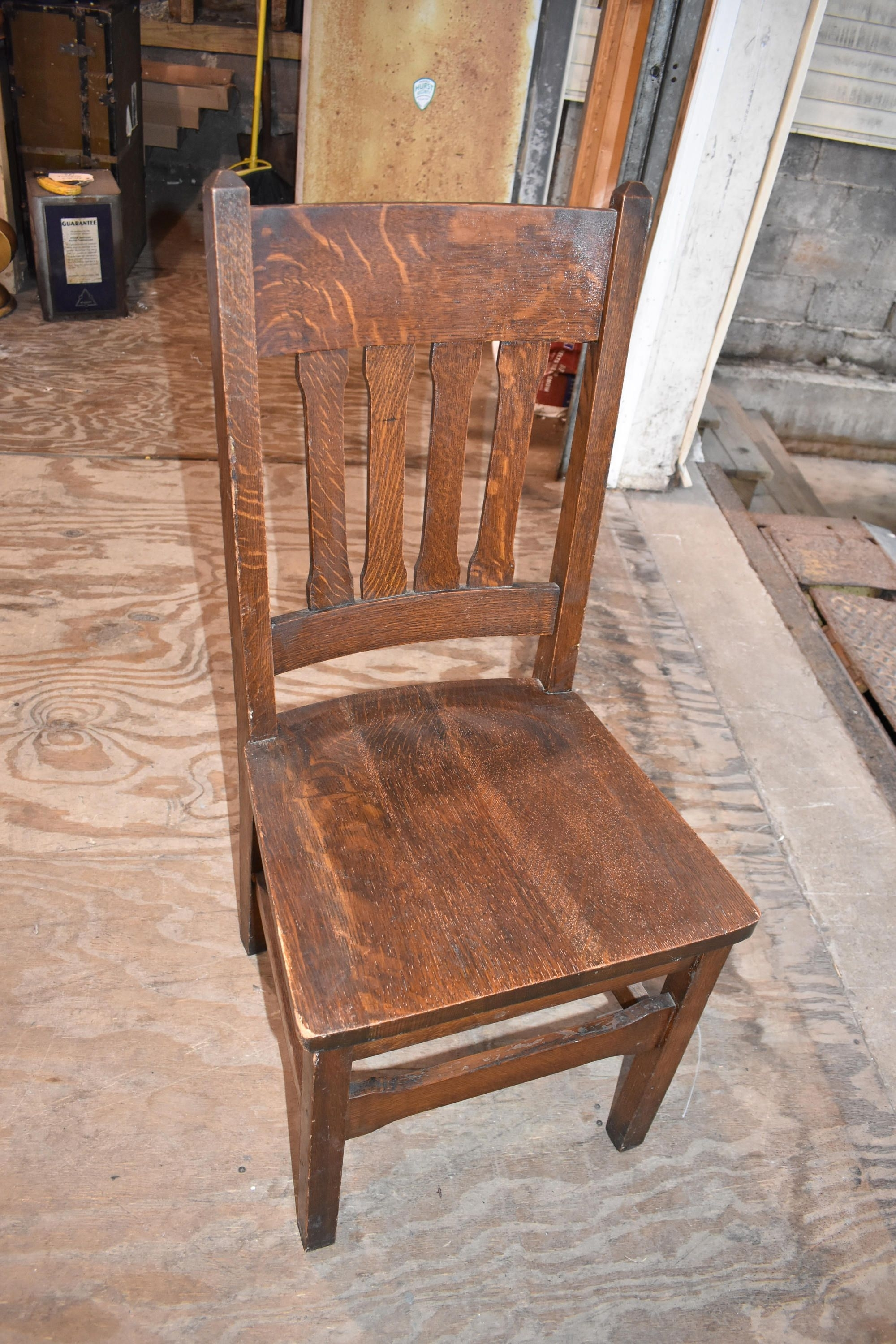 Well Liked Vintage Antique Craftsman Mission Oak Dining Side Chair Arts And For Craftsman Side Chairs (#19 of 20)