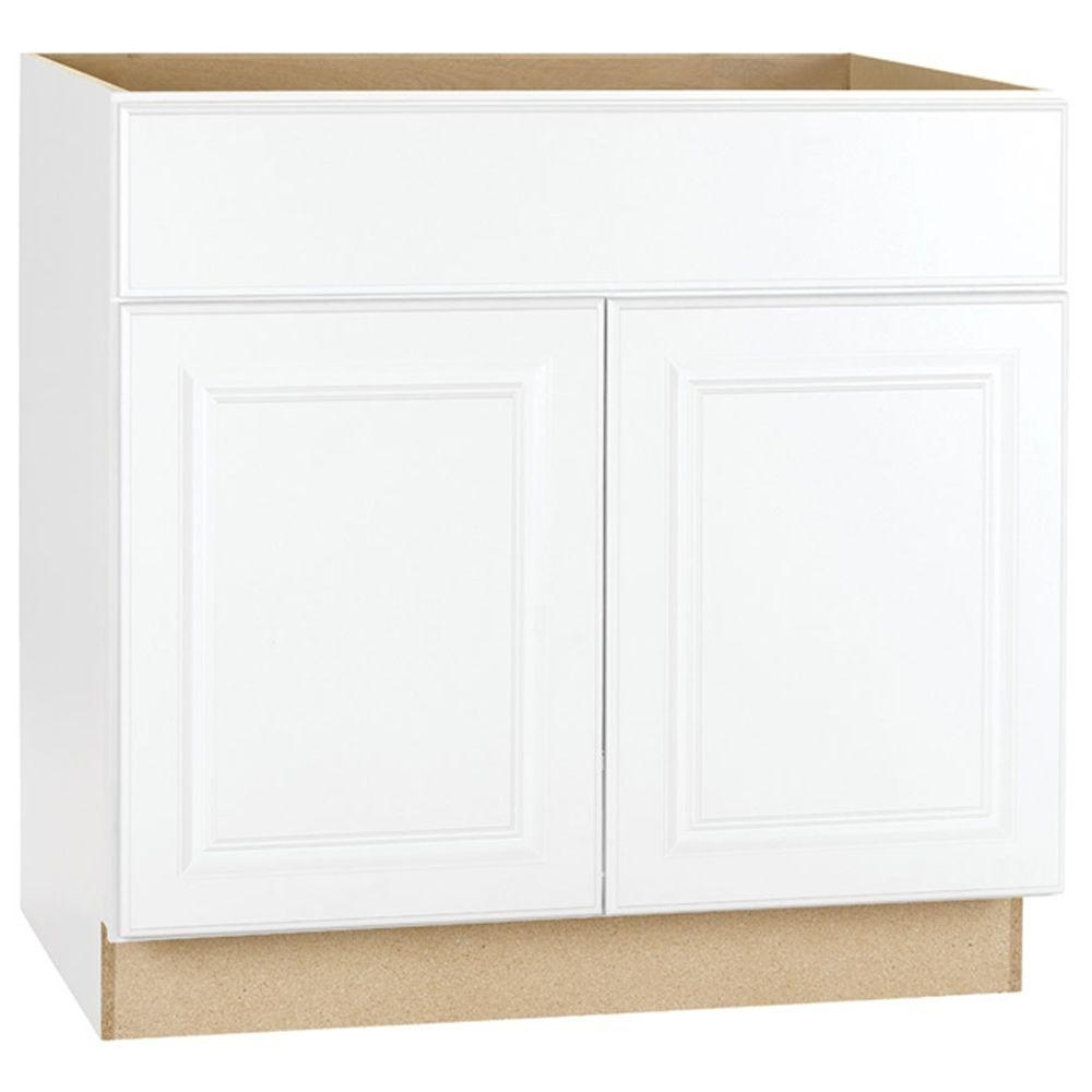White – Kitchen Cabinets – Kitchen – The Home Depot Throughout Current Cass 2 Door Sideboards (View 18 of 20)