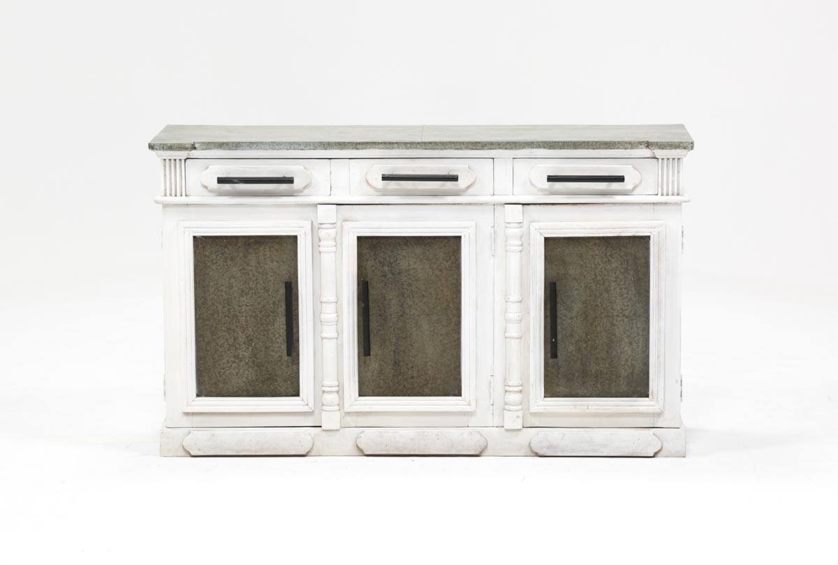Inspiration about White Wash 3 Door/3 Drawer Sideboard | Living Spaces Inside Most Recent White Wash 3 Door 3 Drawer Sideboards (#6 of 20)