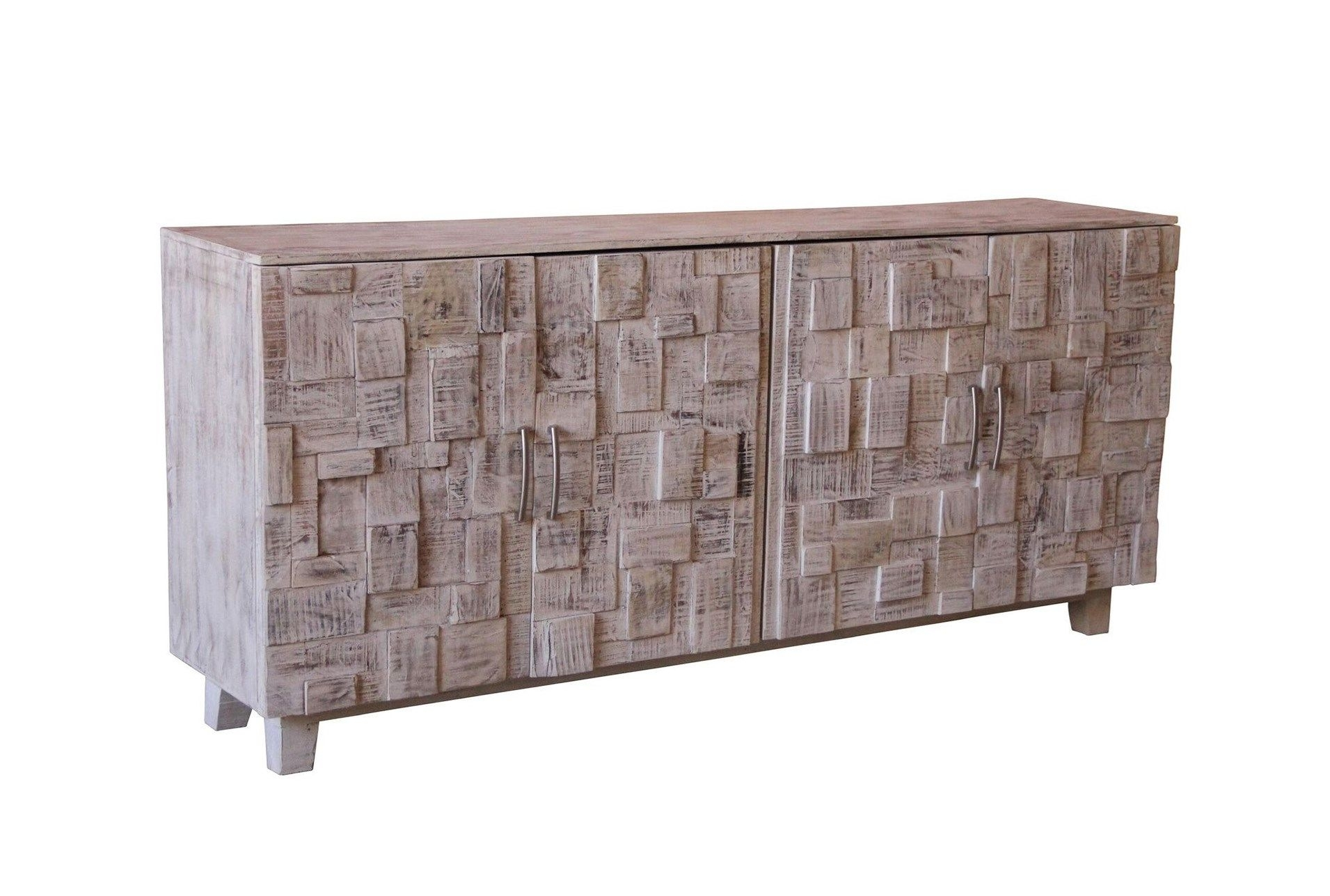 Inspiration about White Wash 4 Door Sideboard | Pinterest | Doors Inside Most Current Corrugated White Wash Sideboards (#2 of 20)