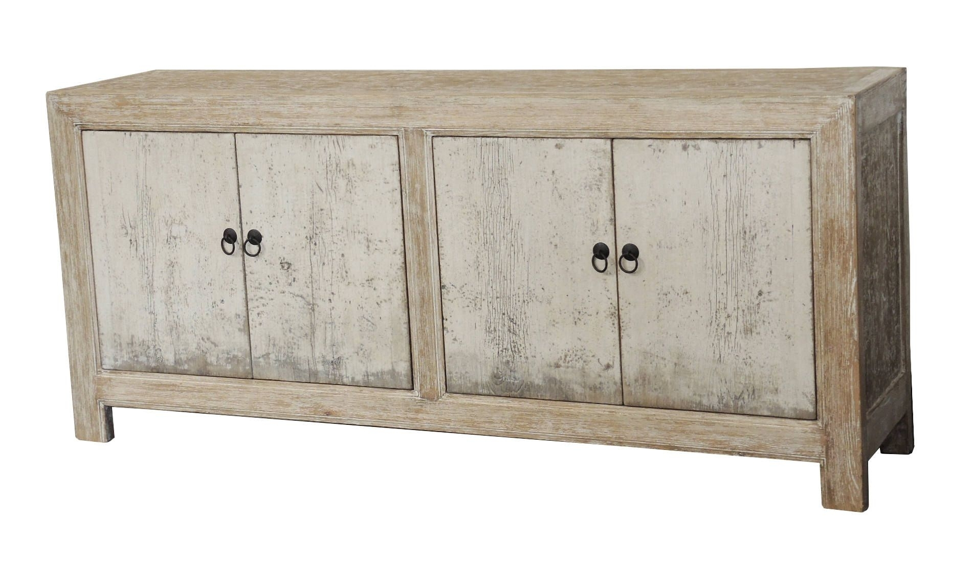 White Wash Distressed 4 Door Sideboard From Terra Nova Designs Inside Recent Vintage Finish 4 Door Sideboards (View 5 of 20)