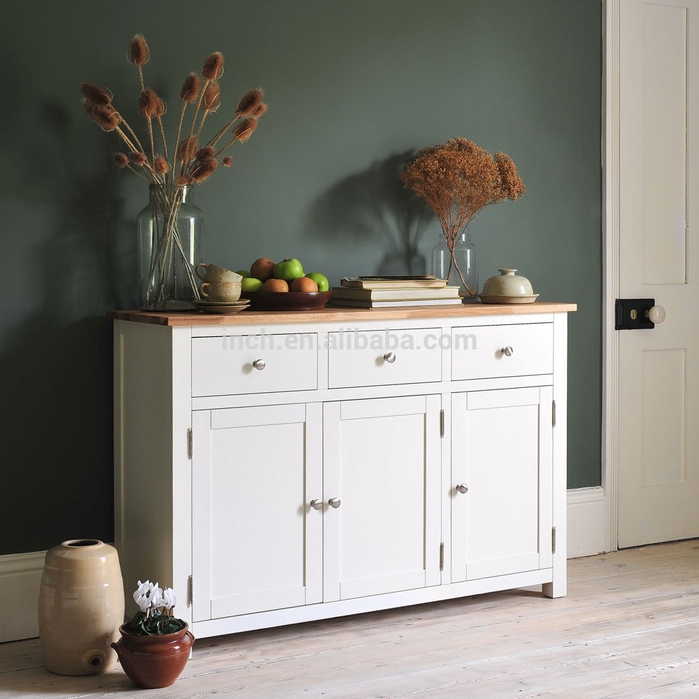 Inspiration about White Wash Sideboard, White Wash Sideboard Suppliers And Pertaining To Best And Newest 3 Drawer/2 Door White Wash Sideboards (#6 of 20)