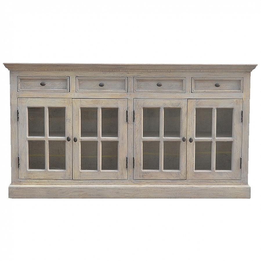 Inspiration about Wholesale Mango Wood Sideboard Uk Drop Shippers Regarding Recent Mango Wood Grey 4 Drawer 4 Door Sideboards (#8 of 20)