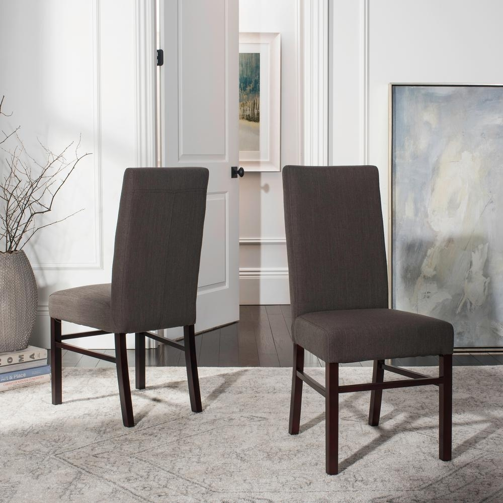 Widely Used Charcoal Dining Chairs Intended For Safavieh Charcoal Brown Dining Chair (Set Of 2) Hud8205J Set2 – The (#20 of 20)