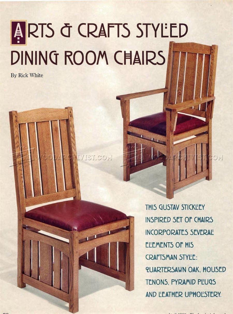 Inspiration about Widely Used Dining Room Chairs Plans • Woodarchivist Pertaining To Craftsman Side Chairs (#12 of 20)