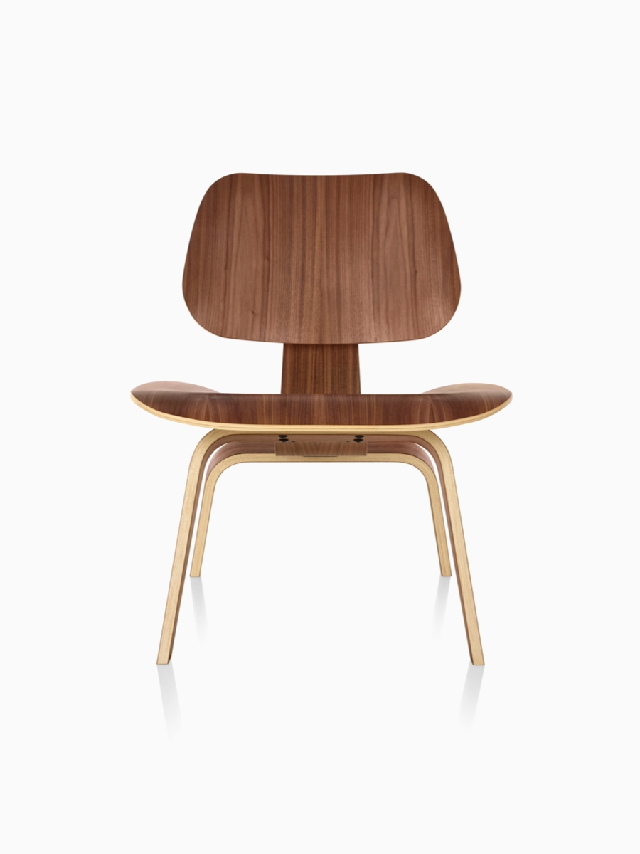 Widely Used Eames® Molded Plywood Lounge Chair Metal Base — A Cousin Of The In Plywood & Metal Brown Dining Chairs (#20 of 20)