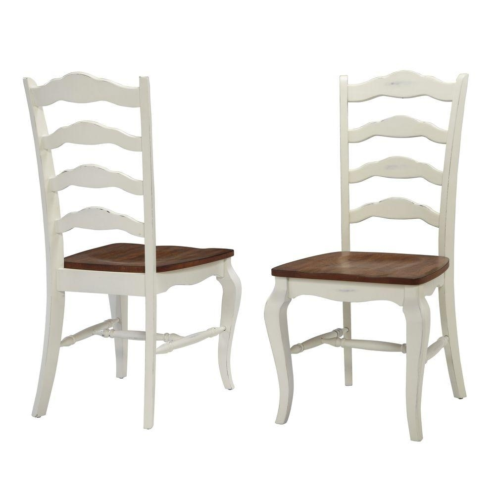 Widely Used Home Styles French Countryside Rubbed White Oak Dining Chair (Set Of Inside Carmel Oak Side Chairs (#20 of 20)