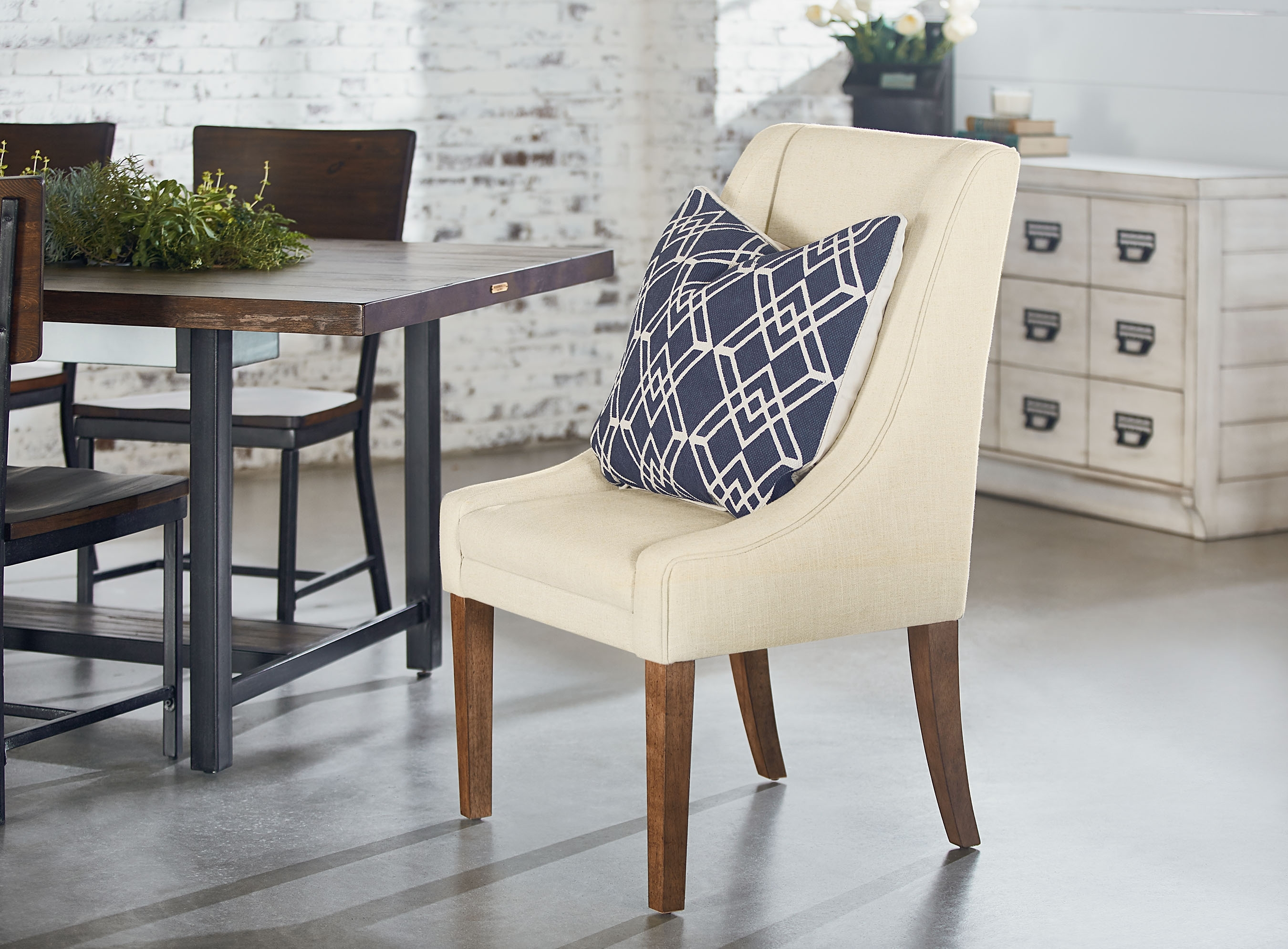 Inspiration about Widely Used Magnolia Home Demi Flannel Wing Side Chairs Within Demi Wing Side Chair – Magnolia Home (#5 of 20)