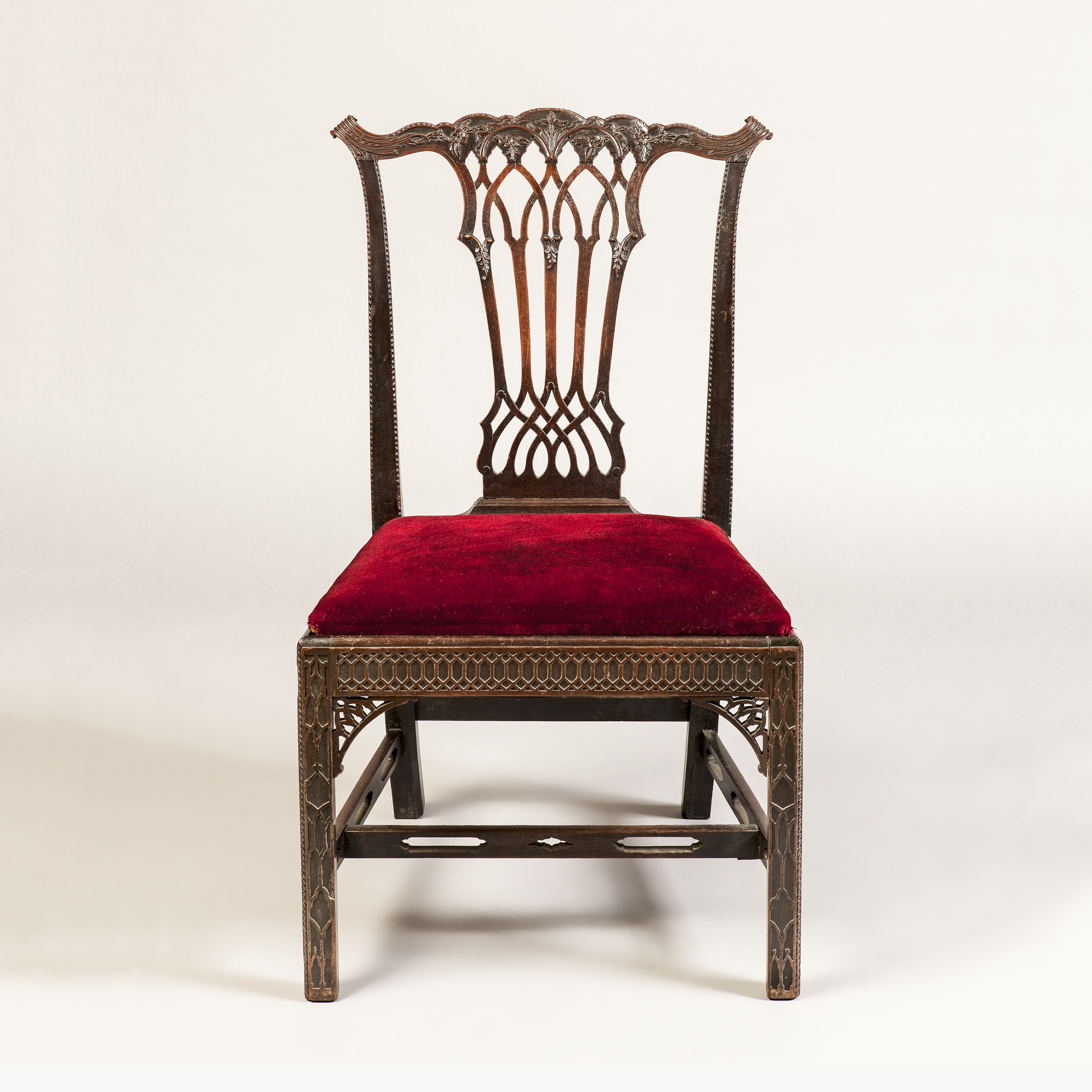 Widely Used Partridge Side Chairs Inside Set Of 8 Mahogany Dining Chairs In Gothic Manner (C (#20 of 20)