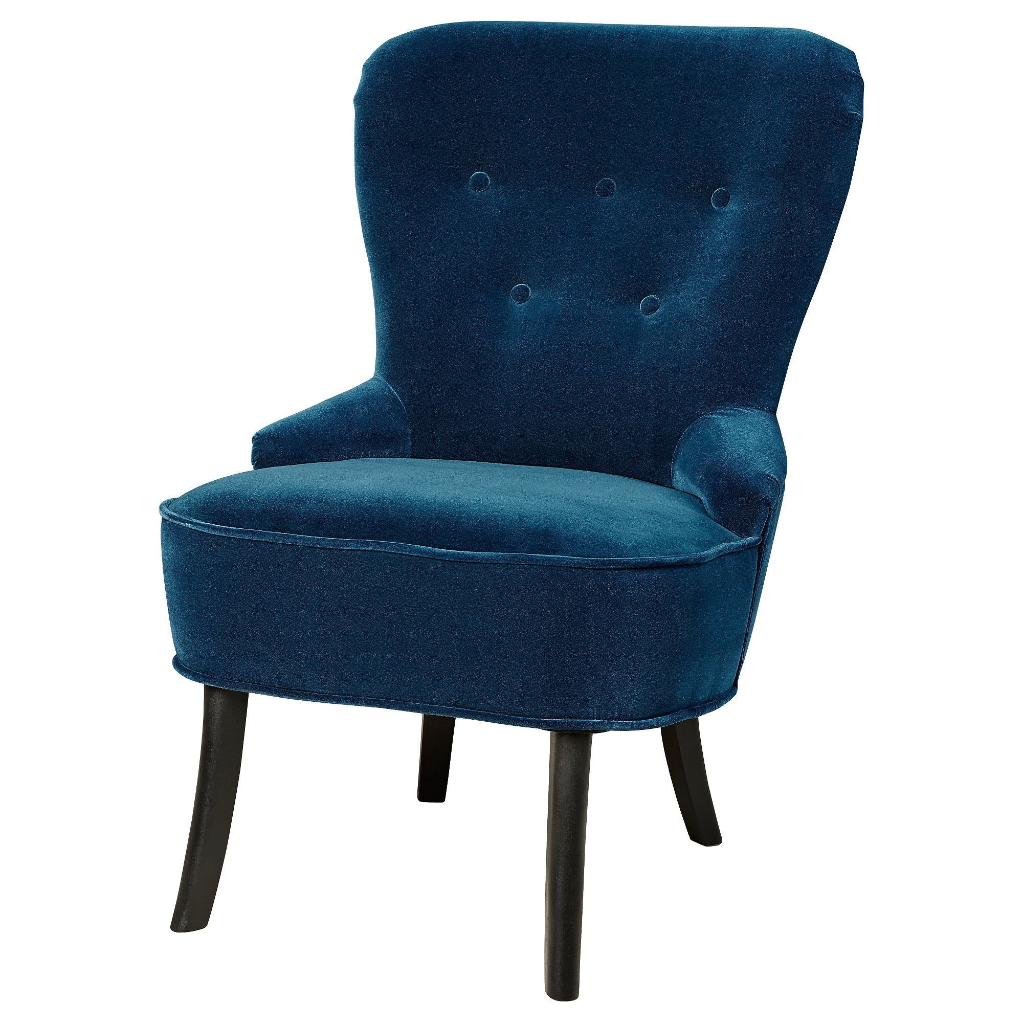 Widely Used Pilo Blue Side Chairs With Remsta Armchair – Djuparp Dark Green Blue – Ikea (View 8 of 20)