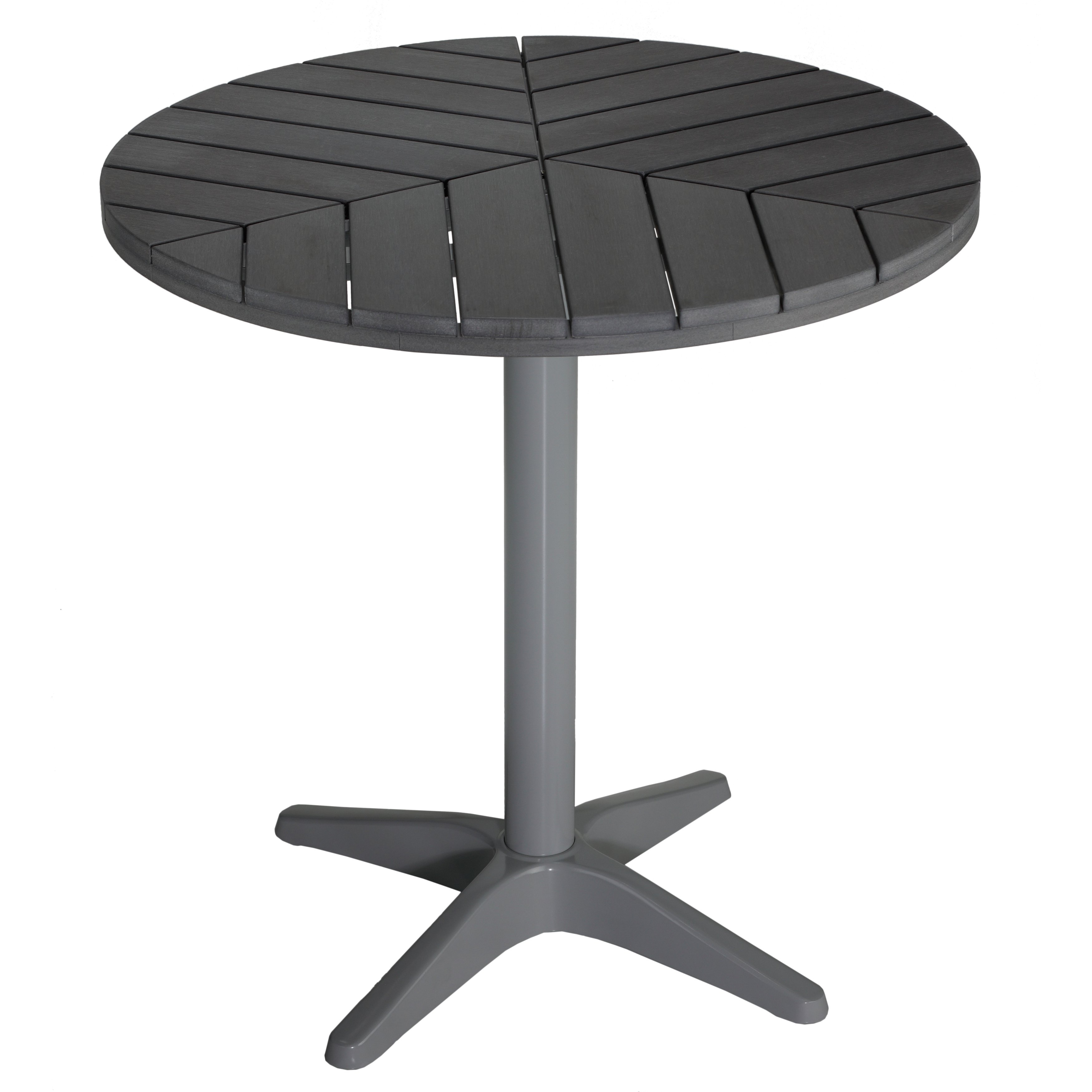 Inspiration about Widely Used Shop Carbon Loft Wallis Silver/ Slate Grey Poly Wood Round Aluminum Pertaining To Jaxon Grey Wood Side Chairs (#10 of 20)
