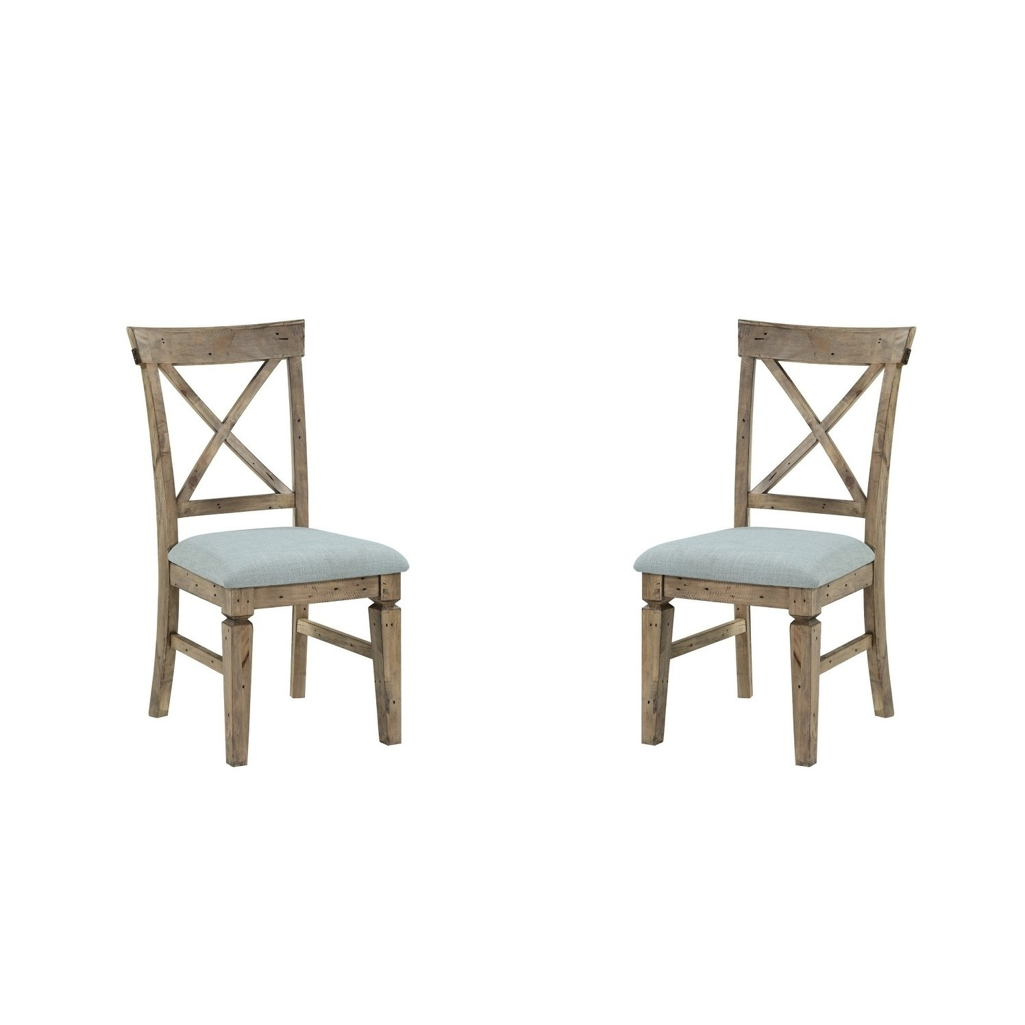 Widely Used Valencia Side Chairs With Upholstered Seat In Shop Emerald Home Valencia Cross Back Upholstered Seat Dining Chair (#19 of 20)