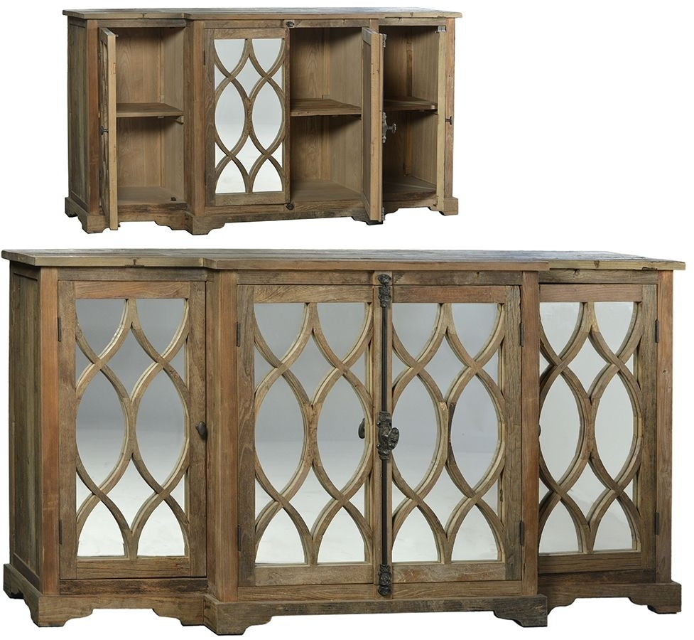 World Bazaar Outlet – Hudson Sideboard Built From Reclaimed Elm Within Newest Reclaimed Sideboards With Metal Panel (#19 of 20)