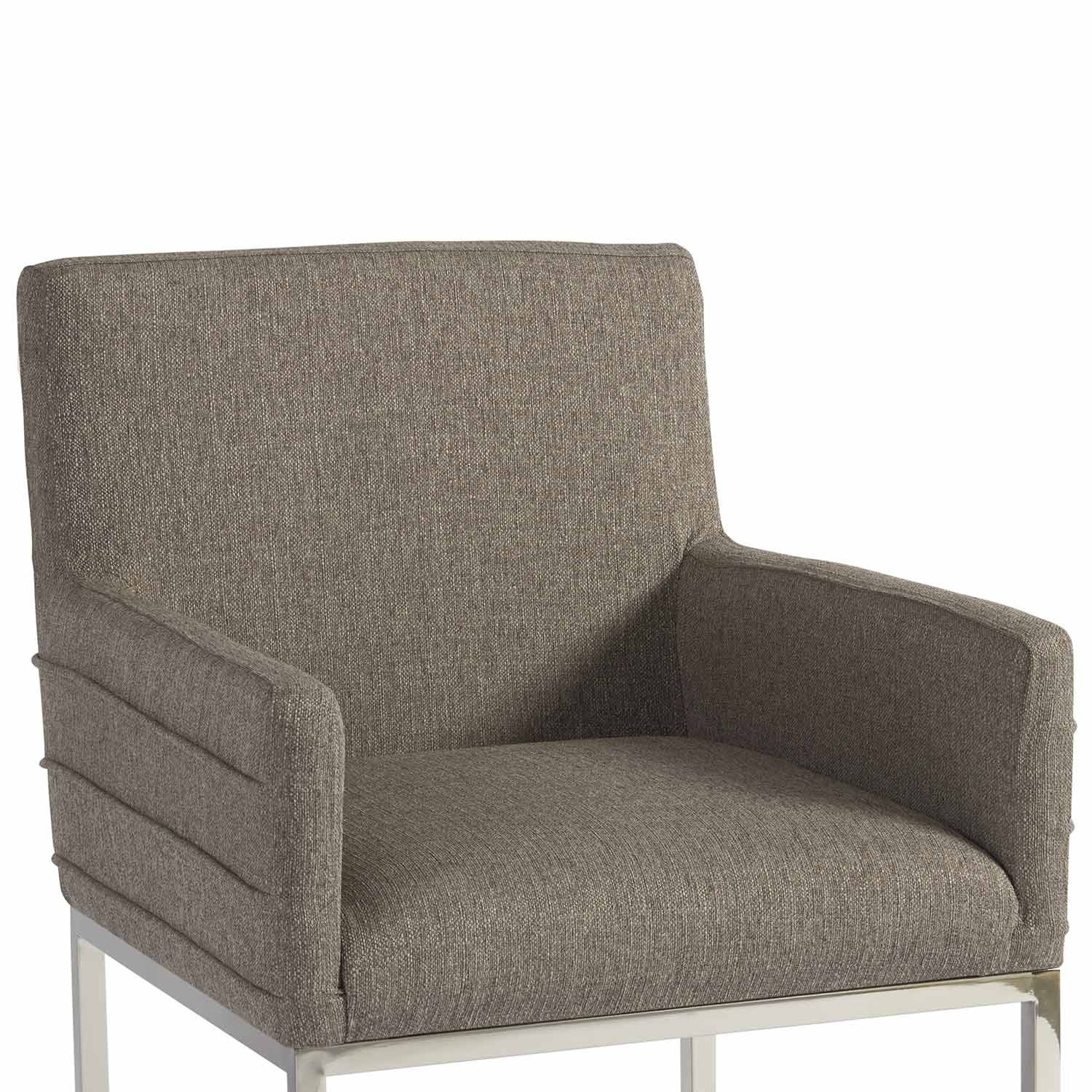 Inspiration about Zephyr Cooper Stainless Steel & Upholstered Arm Chair In Dark Gray Intended For Most Recent Cooper Upholstered Side Chairs (#13 of 20)