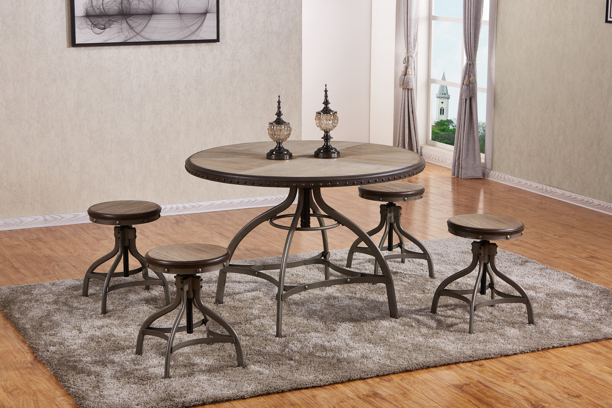 Inspiration about 17 Stories Clarklake 5 Piece Dining Set 192440006954 (#14 of 20)