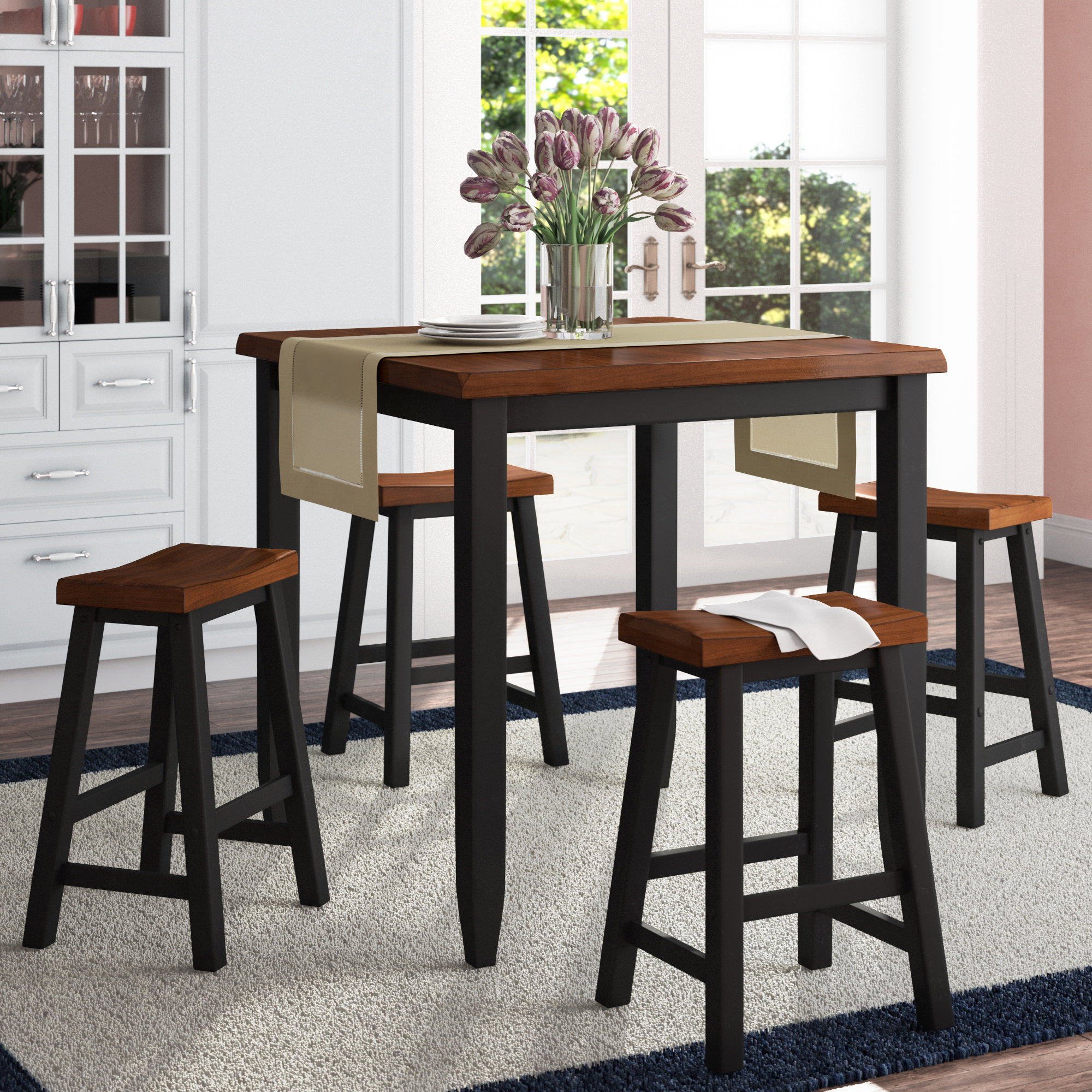 Inspiration about 2017 Darby Home Co Simmons Casegoods Ruggerio 5 Piece Counter Height Pub Throughout Kerley 4 Piece Dining Sets (#10 of 20)