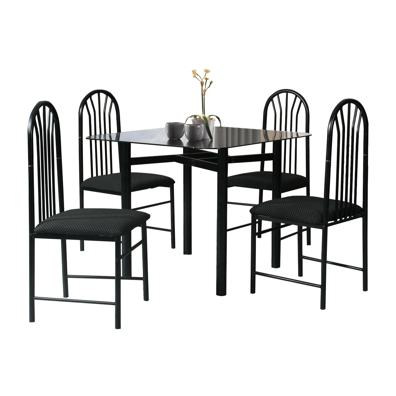 2017 Ganya 5 Piece Dining Sets With Hazelwood Home 5 Piece Dining Set & Reviews (View 10 of 20)