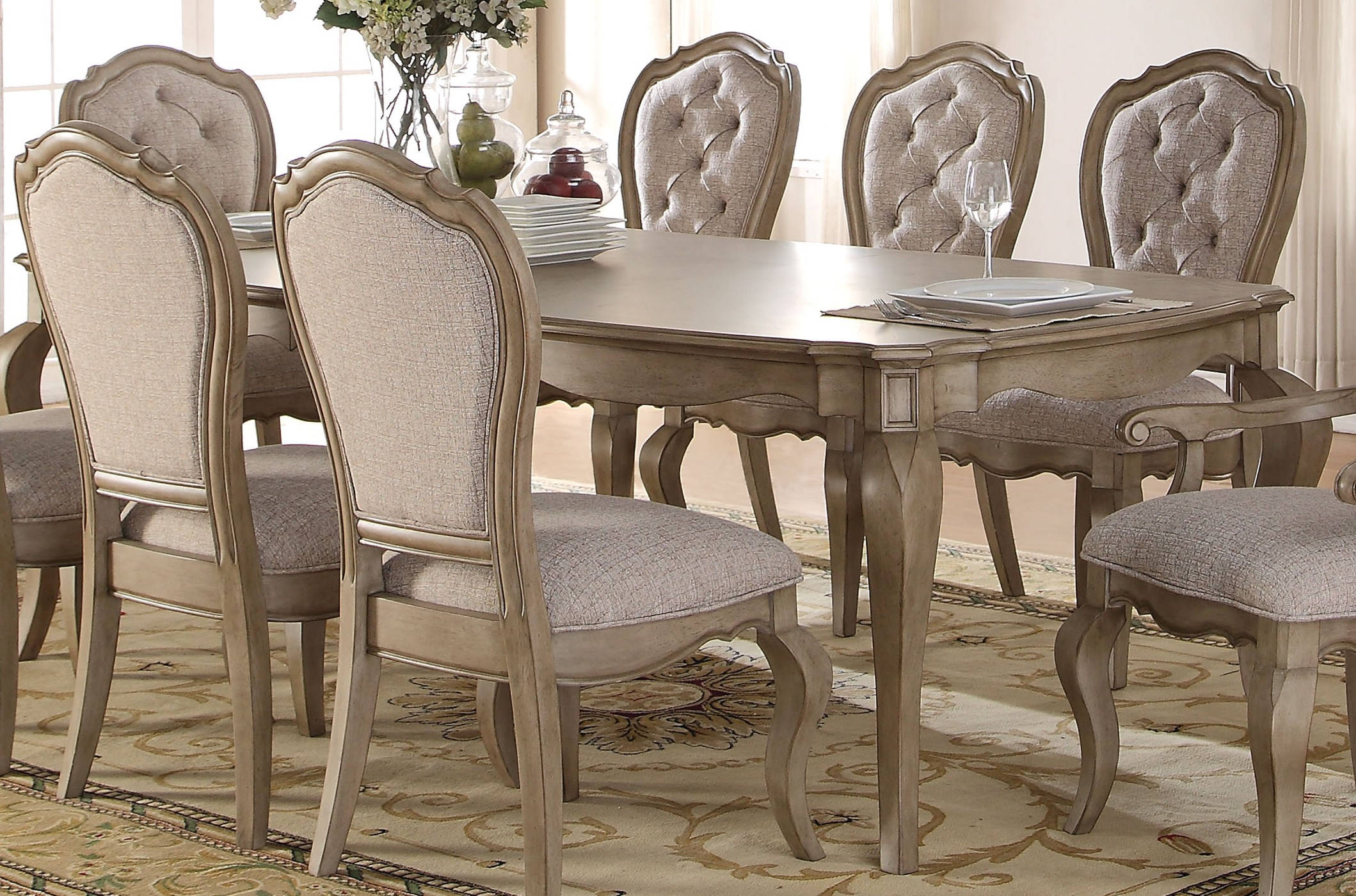Inspiration about 2019 Acme Furniture Chelmsford Antique Taupe Dining Table (#2 of 20)