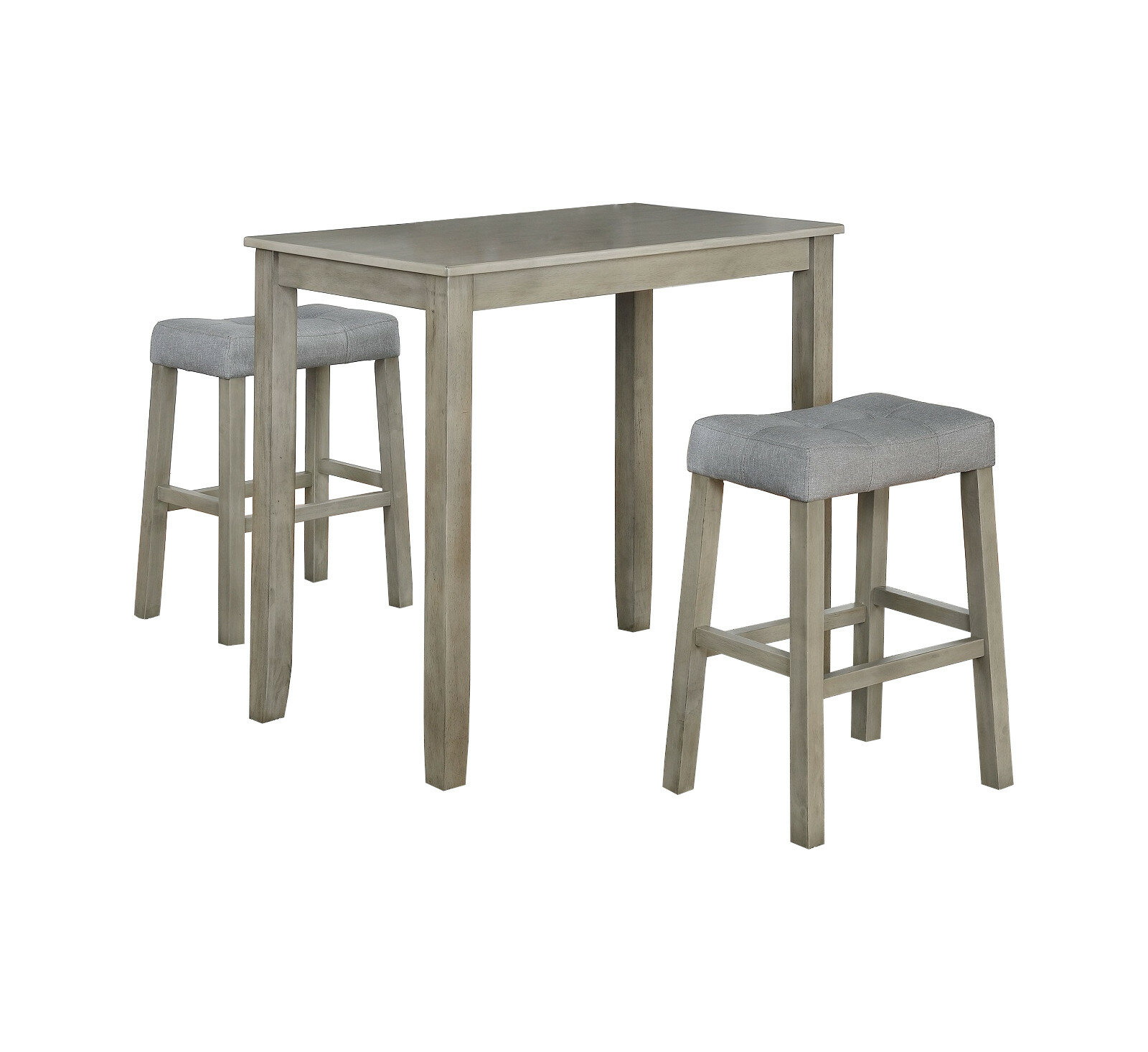 Inspiration about 2019 Nutter 3 Piece Dining Sets Throughout Ophelia & Co. Alejandra 3 Piece Solid Wood Dining Set & Reviews (#9 of 20)