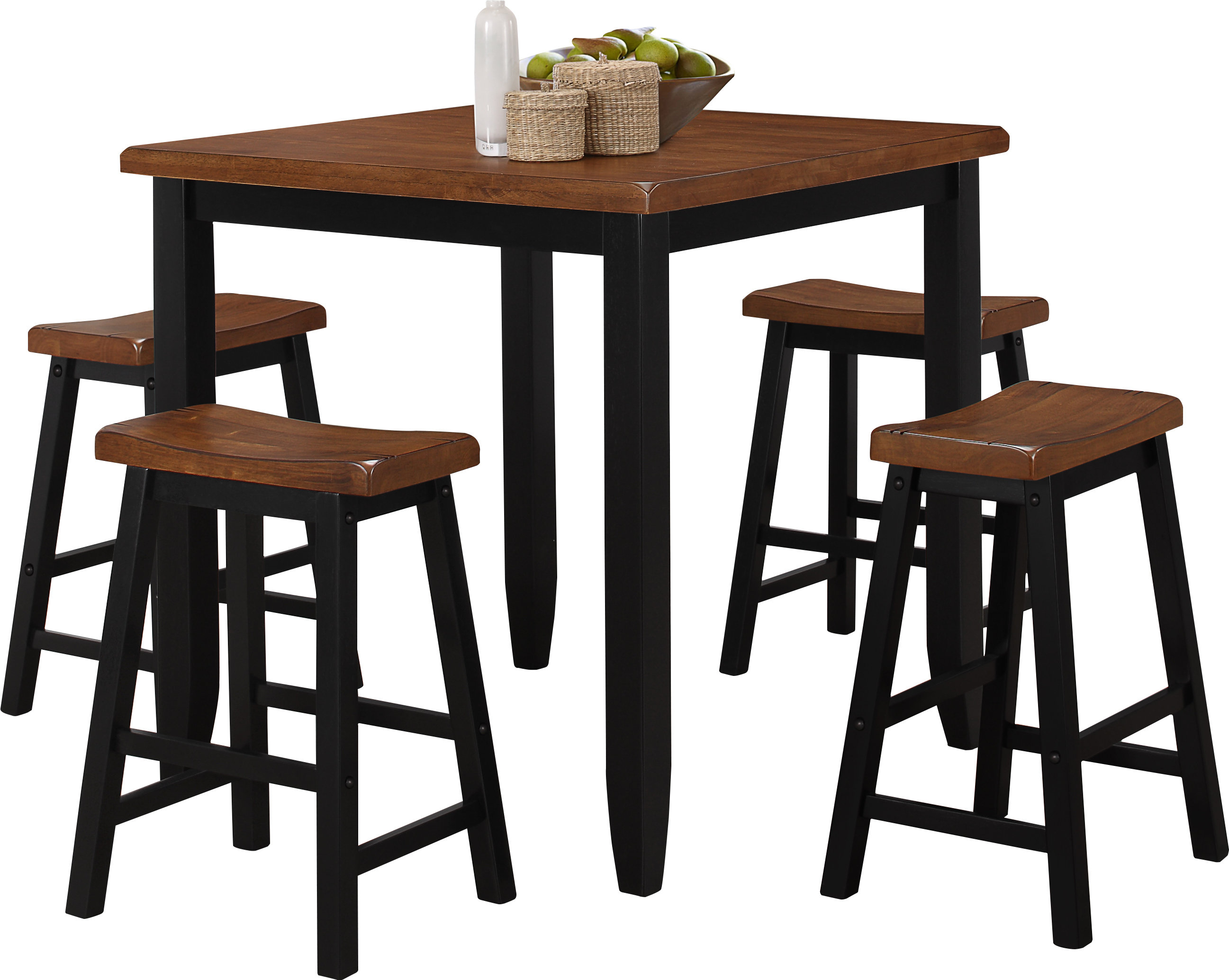 Inspiration about 2019 Tenney 3 Piece Counter Height Dining Sets Pertaining To Simmons Casegoods Ruggerio 5 Piece Counter Height Pub Table Set (#11 of 20)