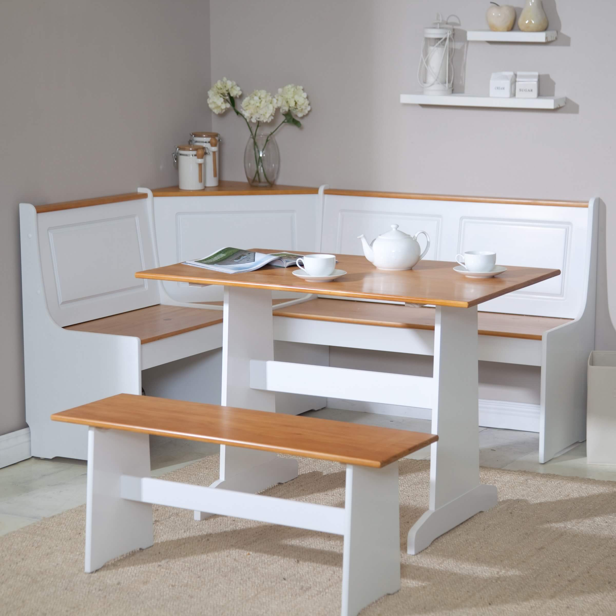 Inspiration about 2019 Wow! 23 Space Saving Corner Breakfast Nook Furniture Sets (2019) With Regard To 3 Piece Breakfast Nook Dinning Set (#16 of 20)