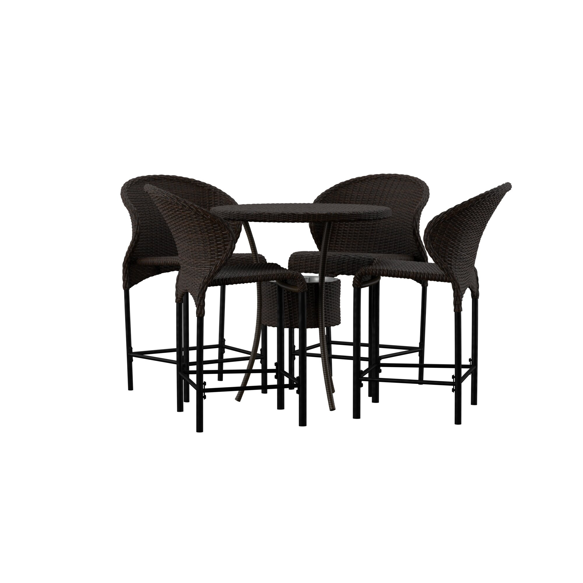 2020 Nicodemus 5 Piece Dining Set (#1 of 20)