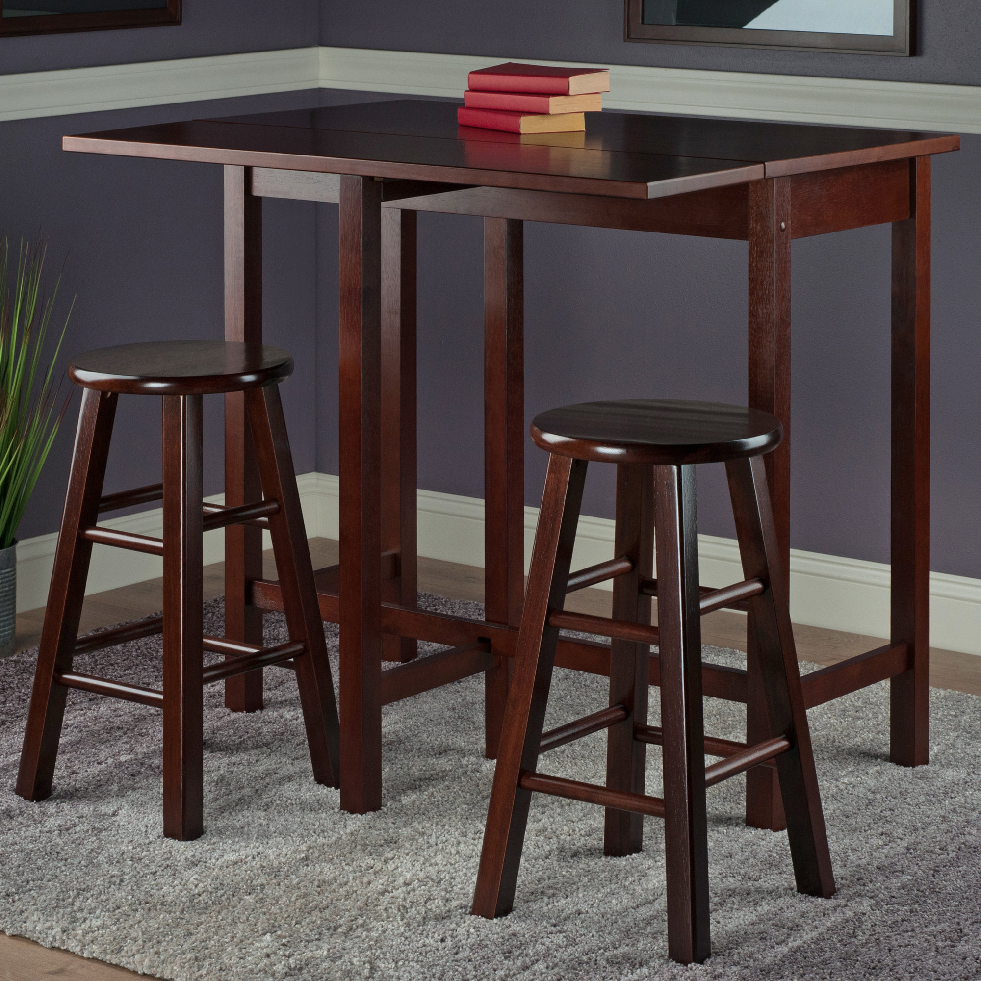 2020 Red Barrel Studio Bettencourt 3 Piece Counter Height Pub Table Set For Bettencourt 3 Piece Counter Height Dining Sets (#1 of 20)