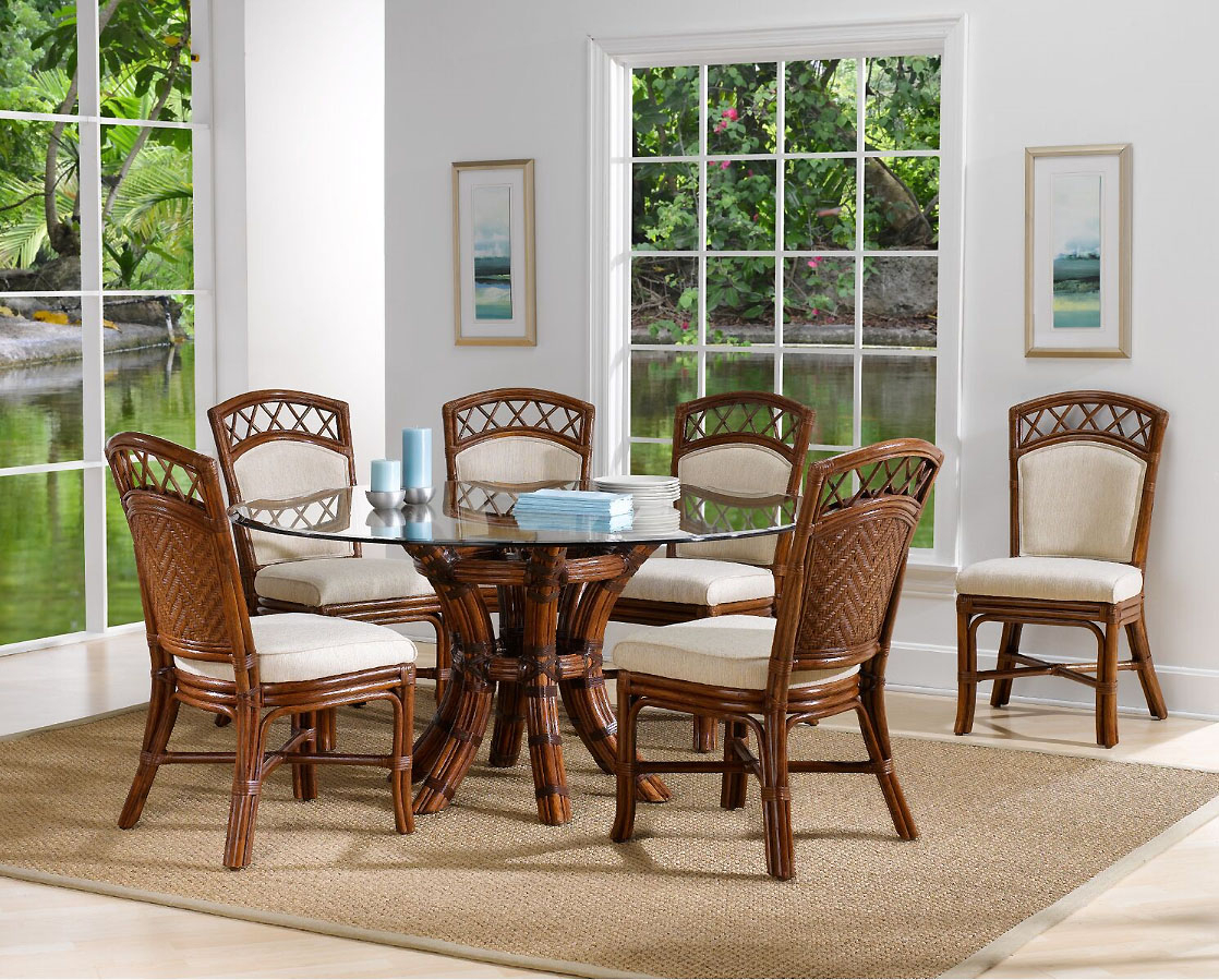Inspiration about 2020 Saint Croix Dining Table With 54 Inch Round Glass From Classic Within Saintcroix 3 Piece Dining Sets (#4 of 20)