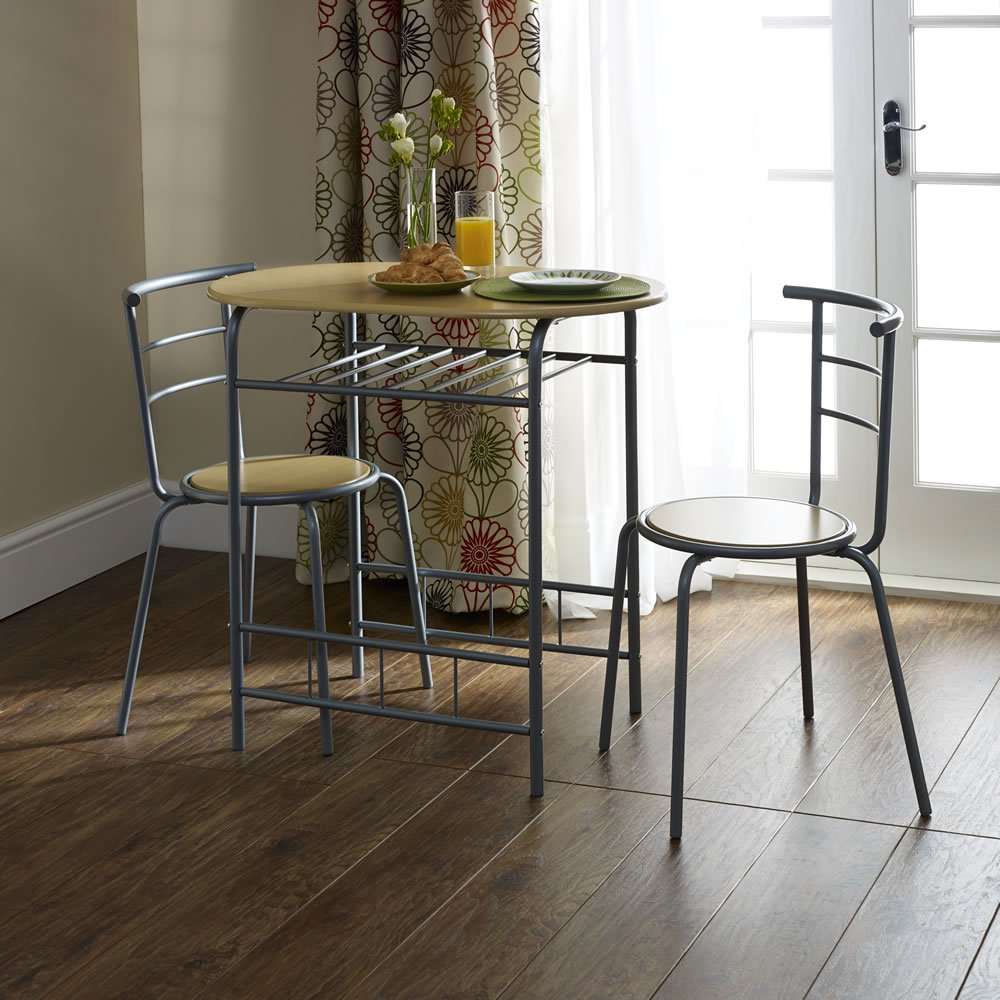 Inspiration about 3 Piece Kitchen Table Set & Pertaining To Newest Tappahannock 3 Piece Counter Height Dining Sets (#17 of 20)