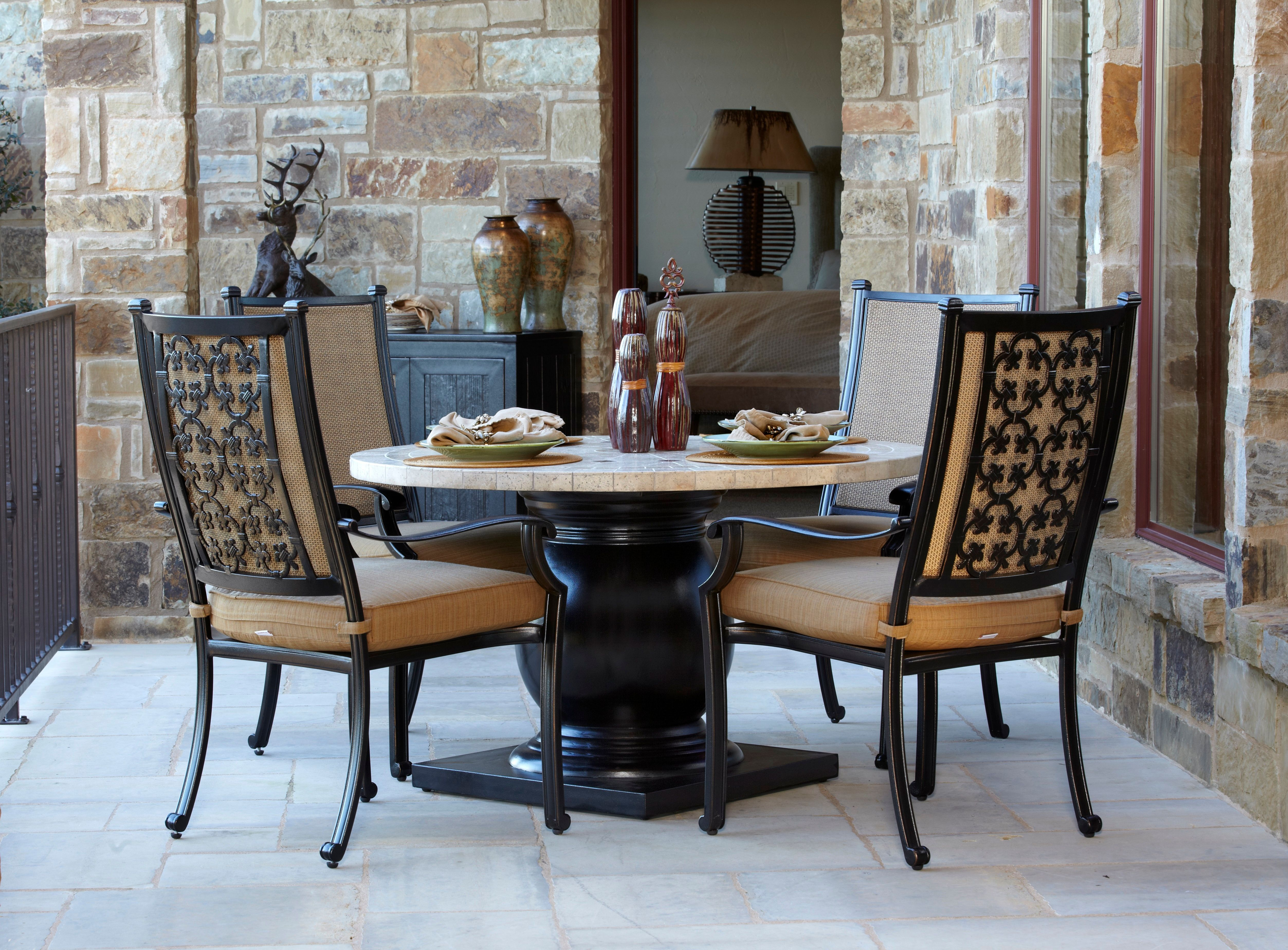 Inspiration about 5 Piece Dining Sets With 2018 Tivoli 5 Piece Sling Dining Set (#13 of 20)