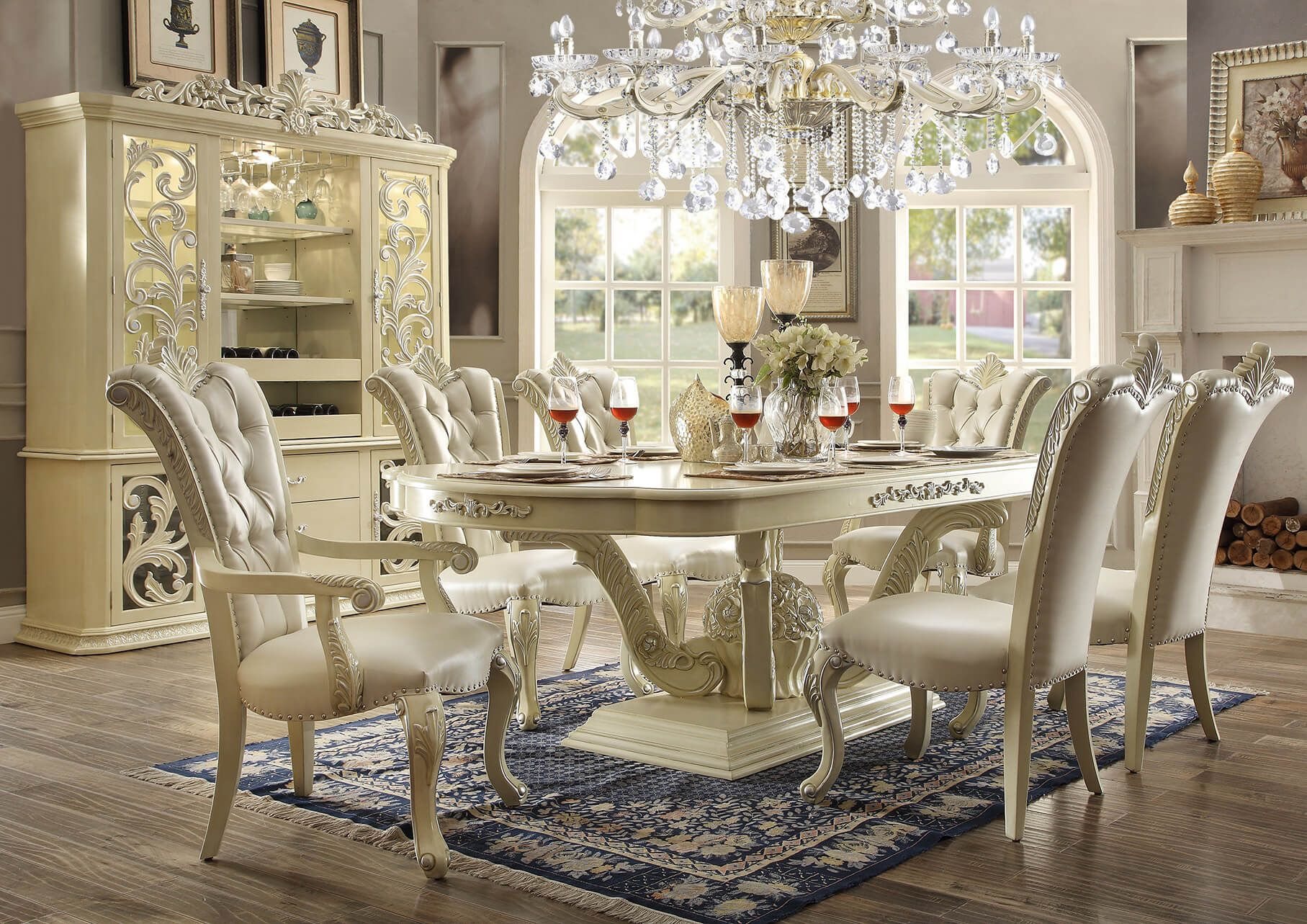 Inspiration about 9 Piece Homey Design Marbella Hd 27 Dining Set In 2019 (#17 of 20)