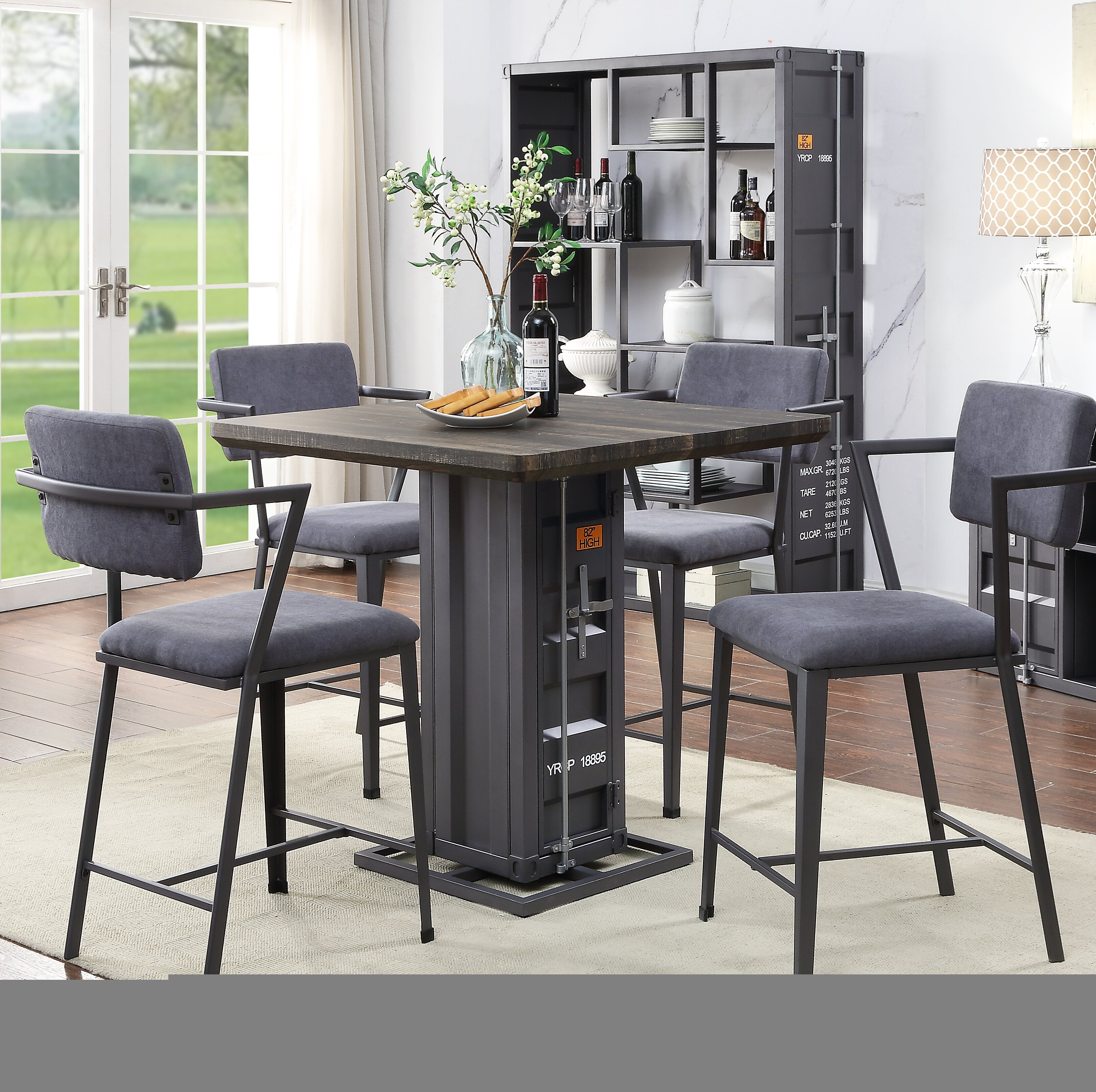 Popular Photo of Cargo 5 Piece Dining Sets