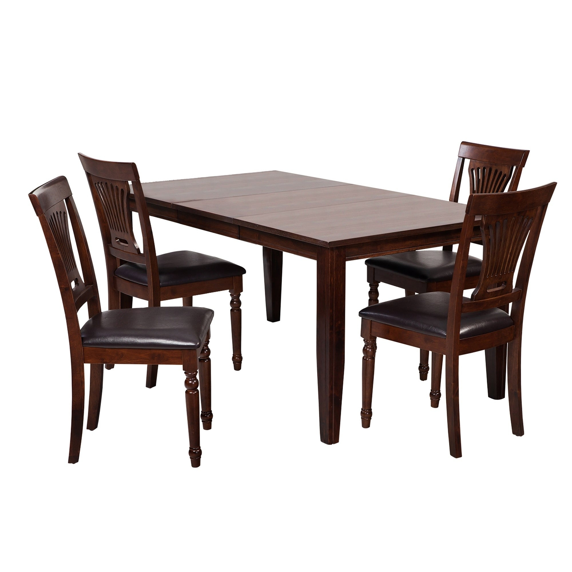 "Adan 5 Piece Solid Wood Dining Sets (Set Of 5) Throughout Most Recent Shop 5 Piece Solid Wood Dining Set ""aden"", Modern Kitchen Table Set (#4 of 20)"