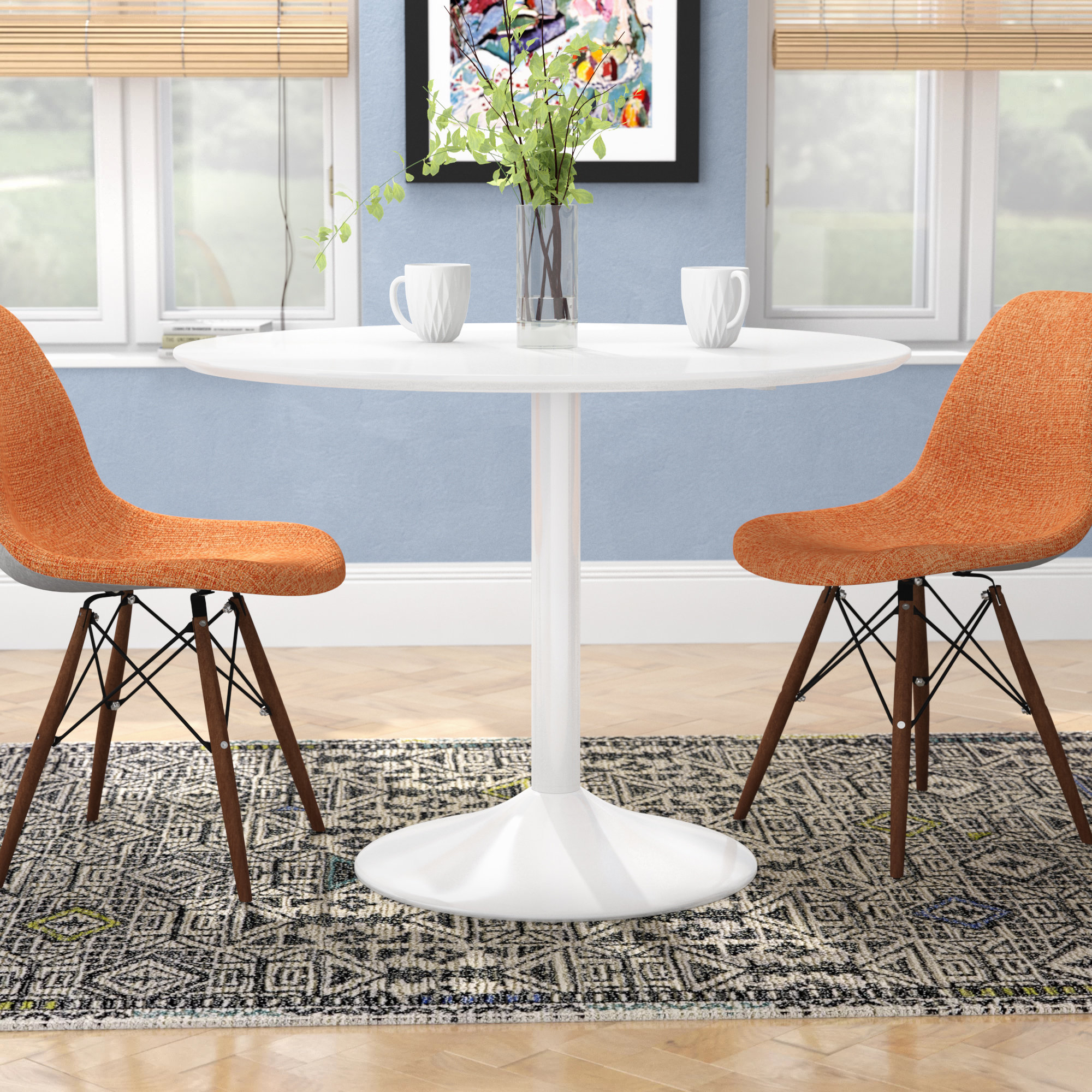 Amir 5 Piece Solid Wood Dining Sets (Set Of 5) Intended For Current Langley Street Oak Park Dining Table & Reviews (#5 of 20)